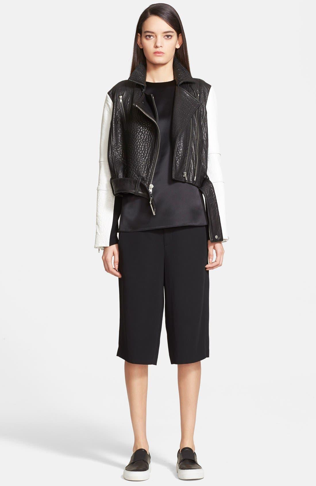 Alternate Image 1 Selected - Helmut Lang 'Forge' Leather Moto Jacket