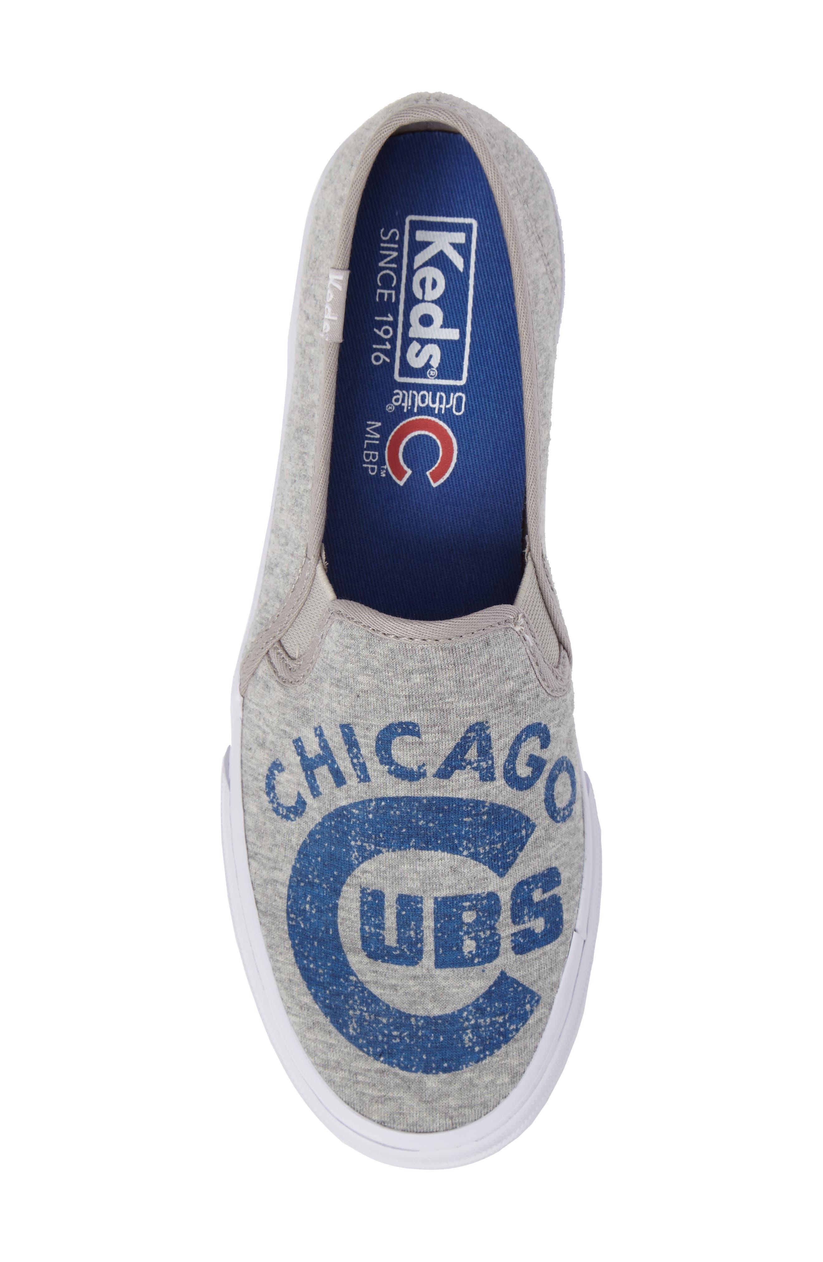 Double Decker Baseball Team Jersey Slip-On Sneaker,                             Alternate thumbnail 5, color,                             Light Grey