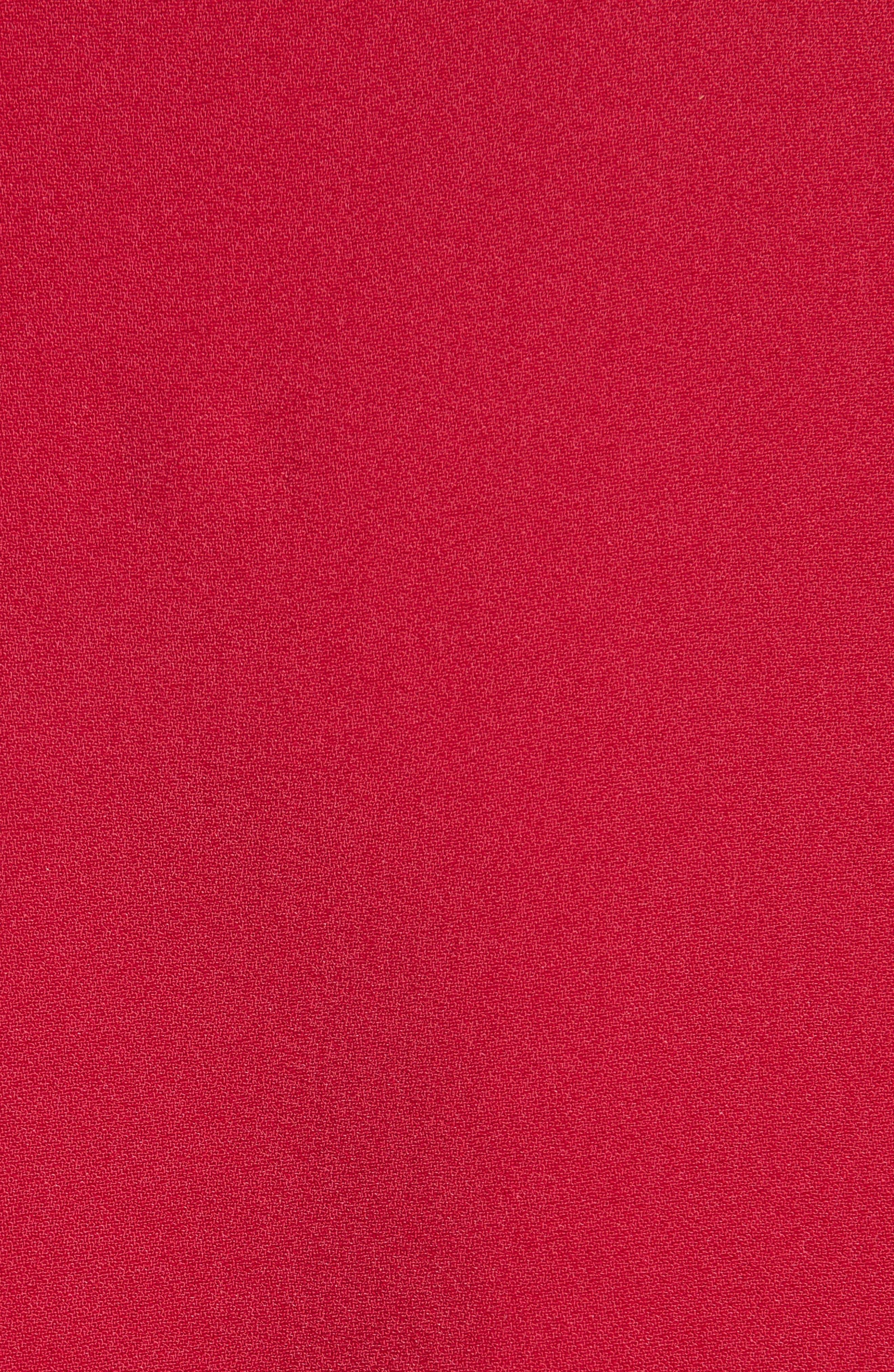 Ruffle Hem Top,                             Alternate thumbnail 3, color,                             Hot Pink