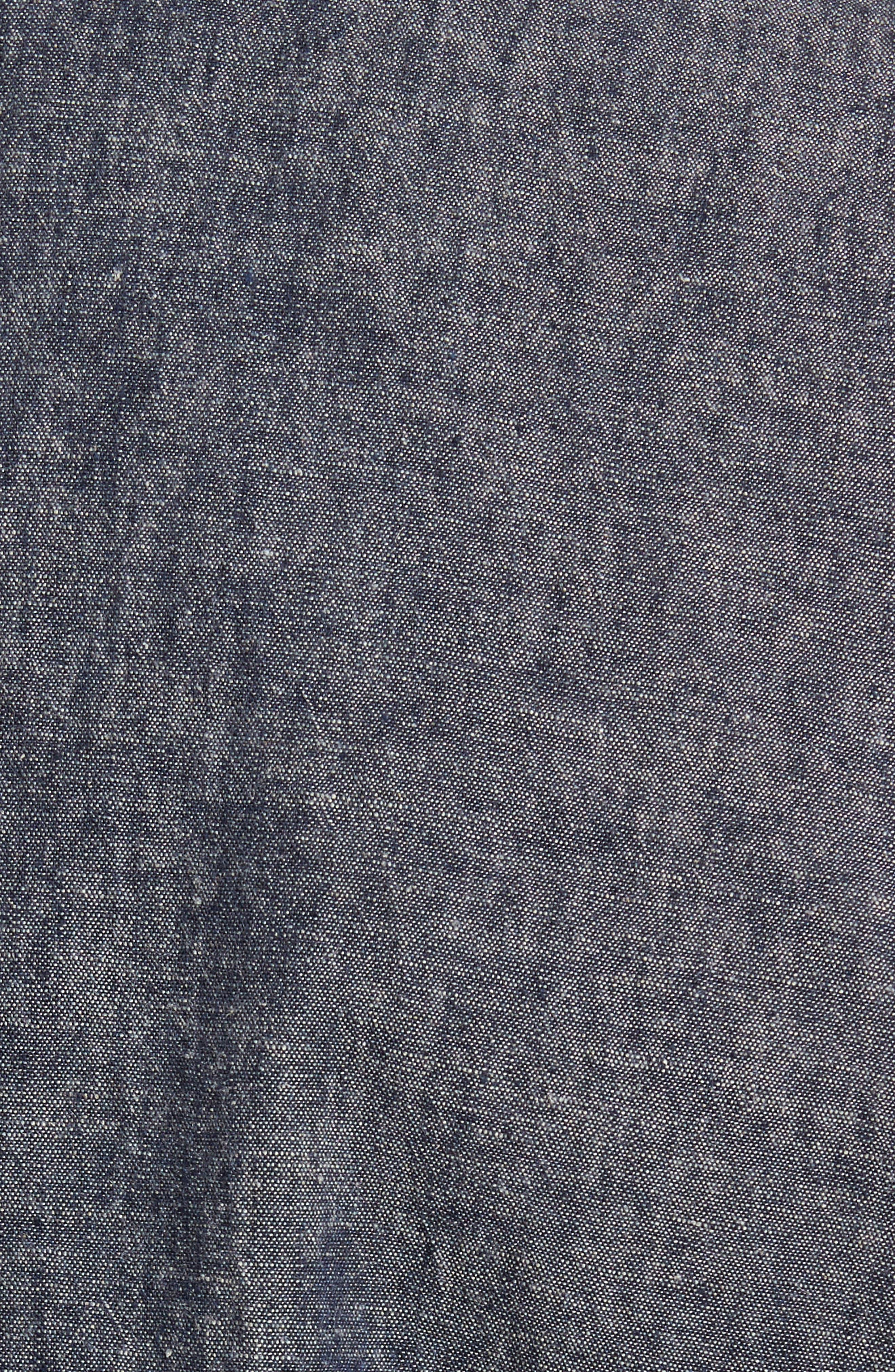 Trunnel Slim Fit Linen Blend Blazer,                             Alternate thumbnail 6, color,                             Night Sea