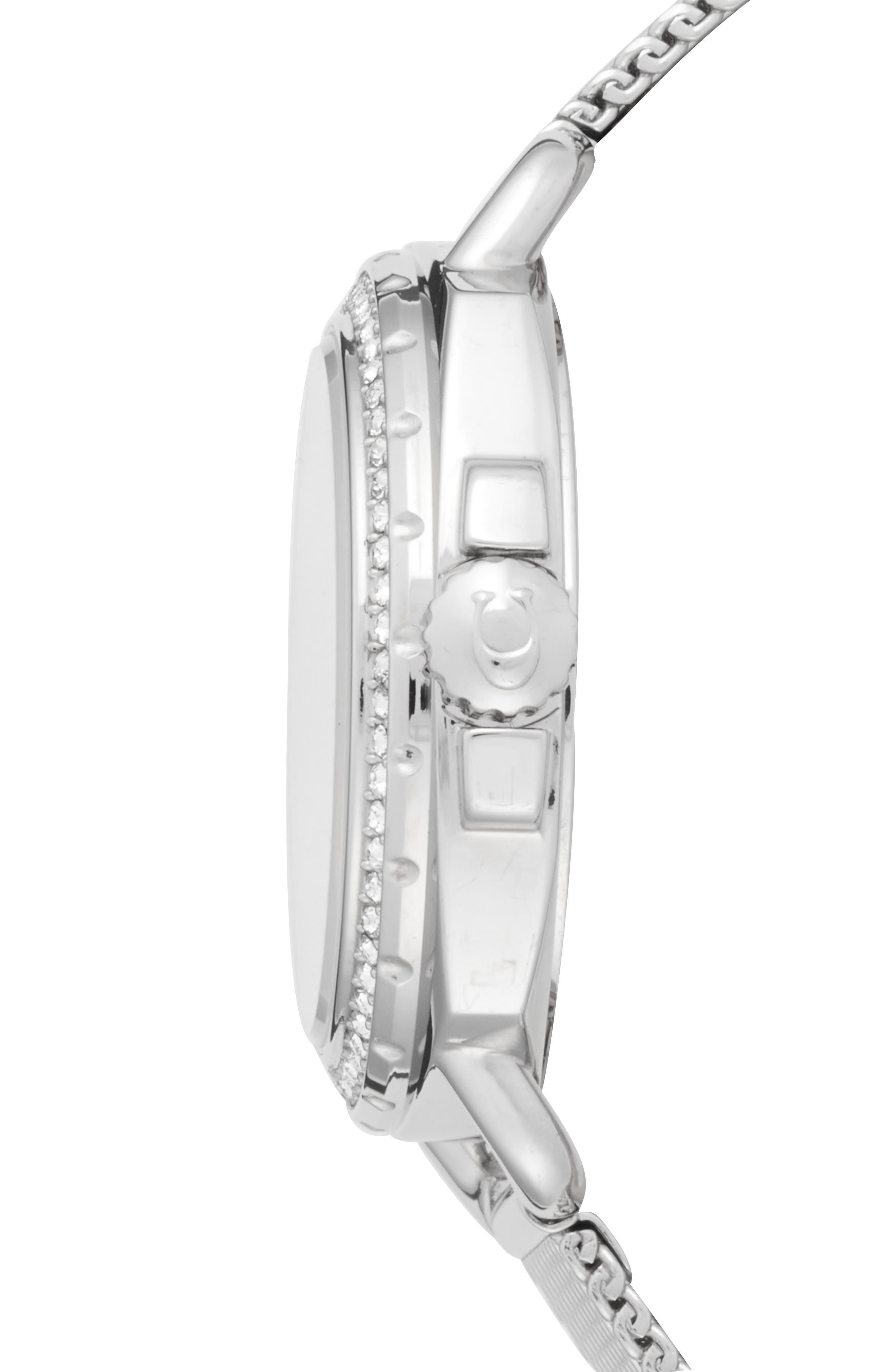 Alternate Image 3  - COACH Tatum Crystal Mesh Strap Watch, 35mm