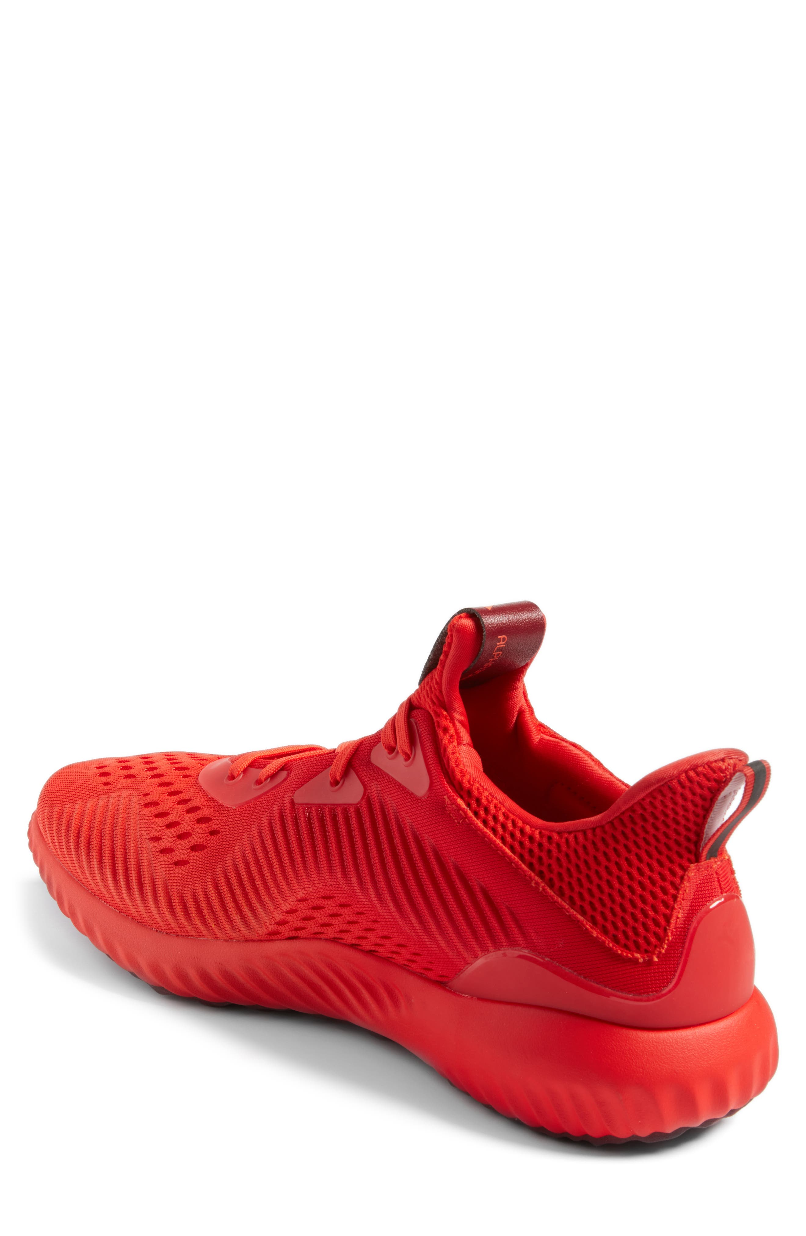 AlphaBounce Running Shoe,                             Alternate thumbnail 2, color,                             Blaze Orange/Red/Burgundy