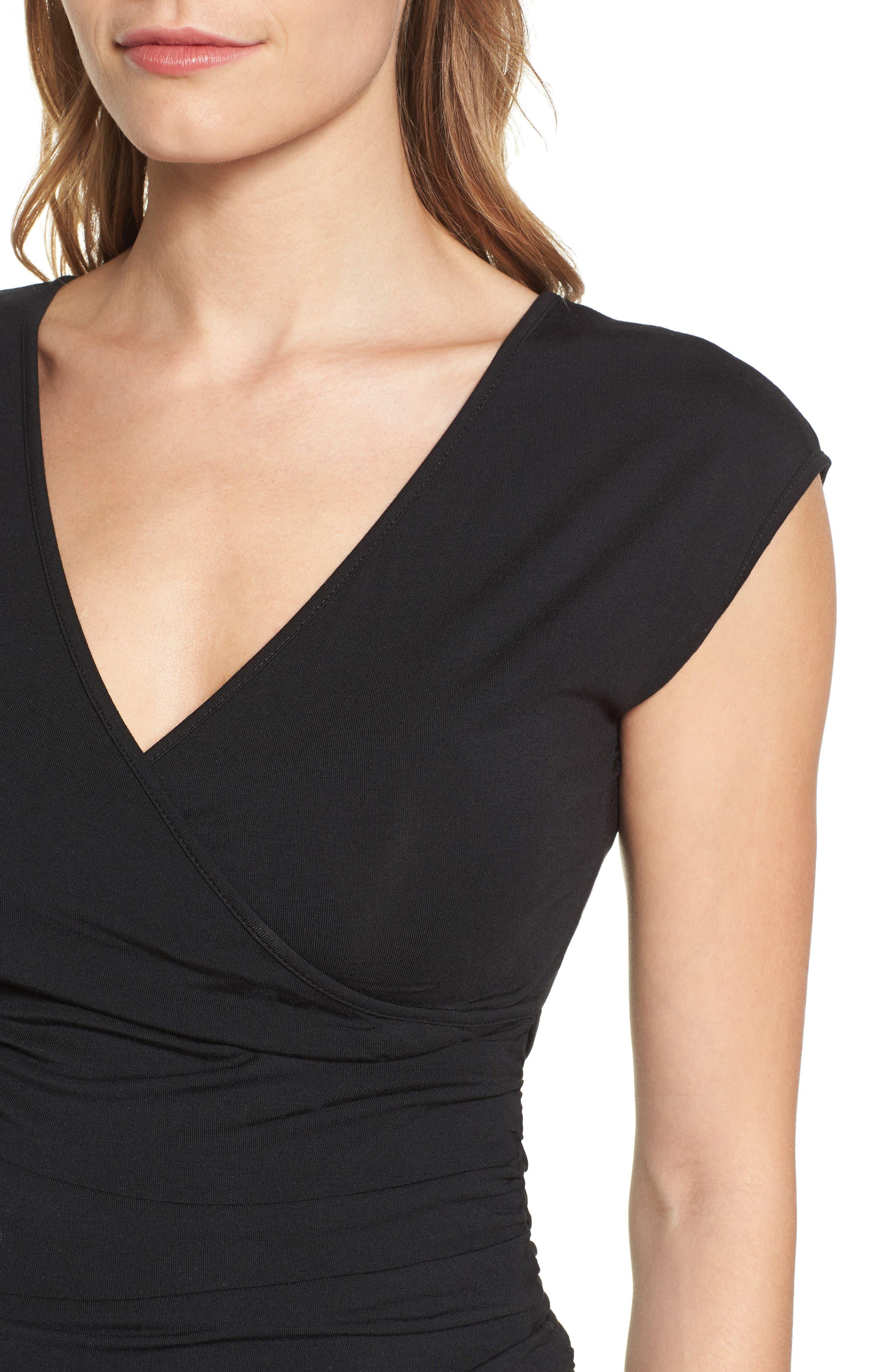 'Vita' Maternity Maxi Dress,                             Alternate thumbnail 4, color,                             Black