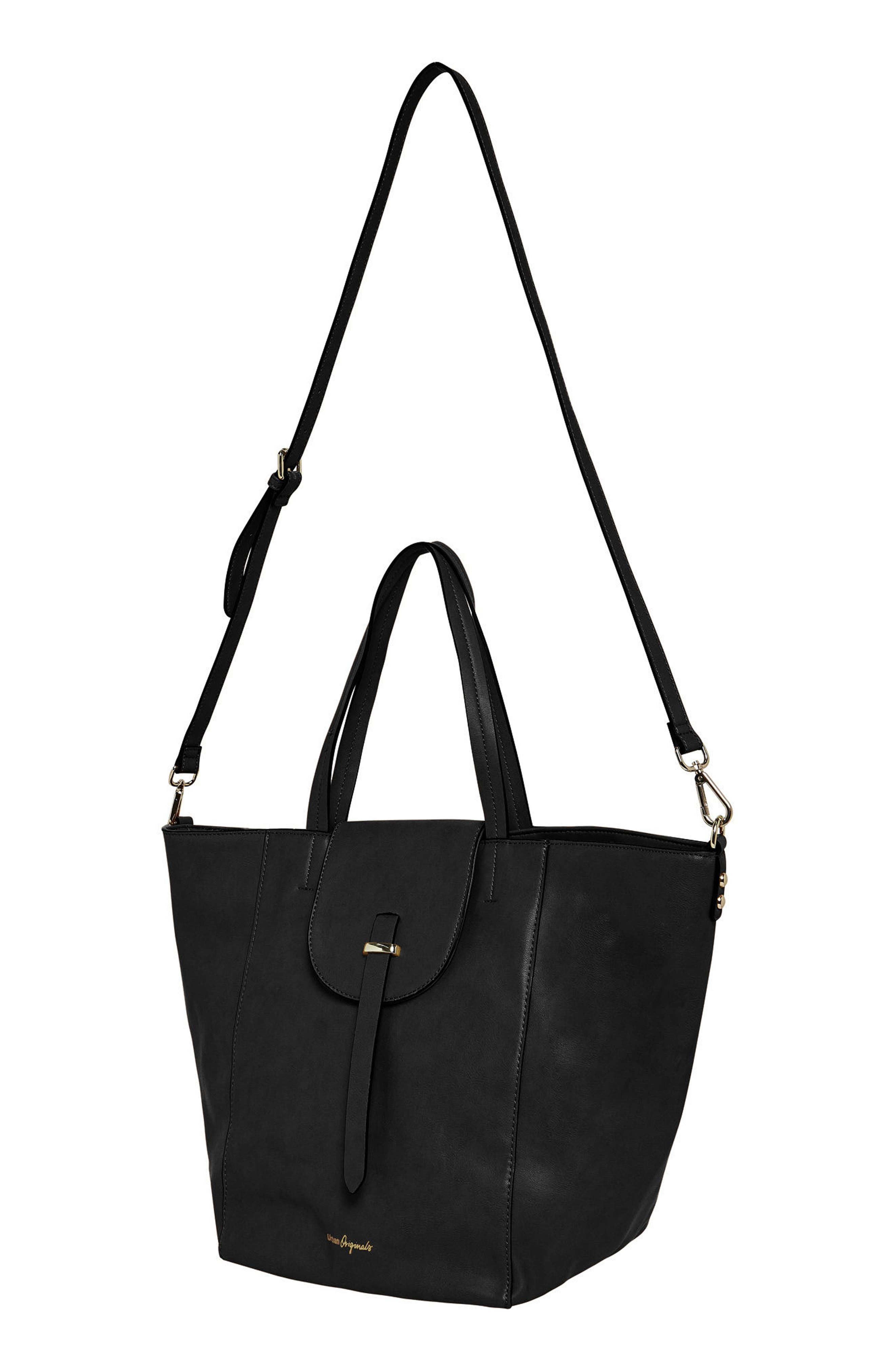 Urban Orginals Desire Vegan Leather Bucket Bag,                             Alternate thumbnail 2, color,                             Black