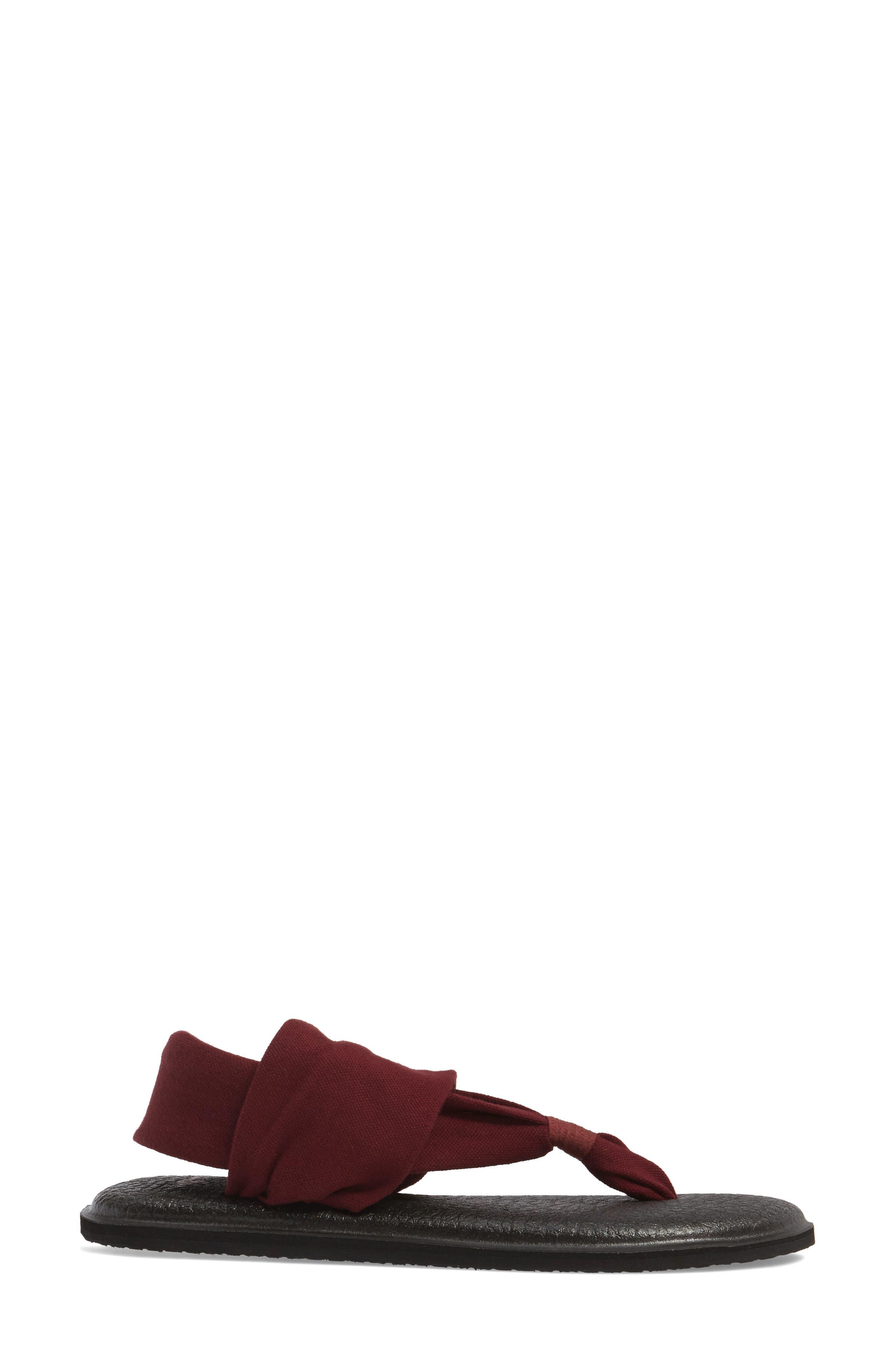 'Yoga Sling 2' Sandal,                             Alternate thumbnail 3, color,                             Burgundy
