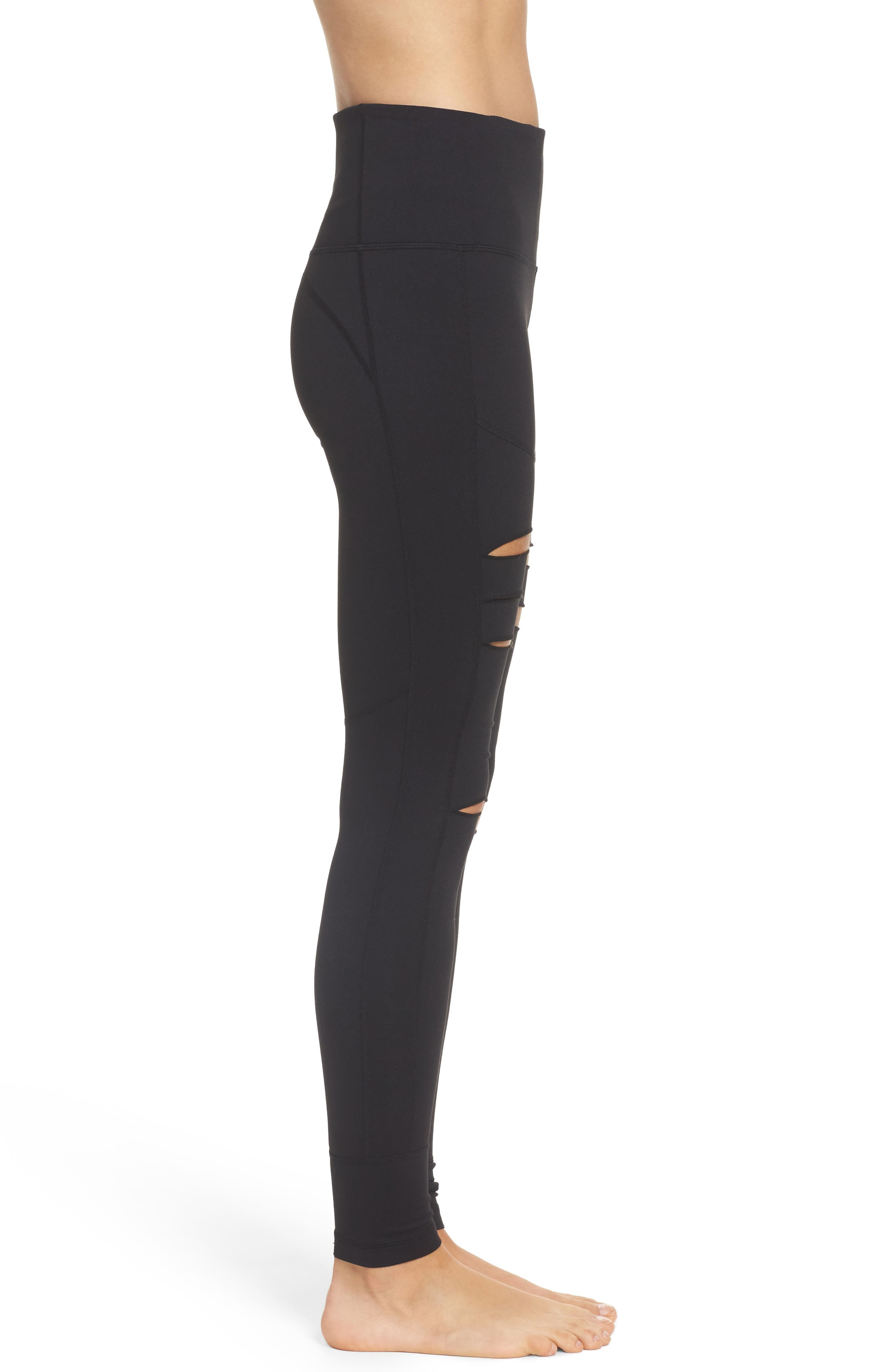 Alternate Image 3  - Zella Cece High Waist Open Knee Leggings