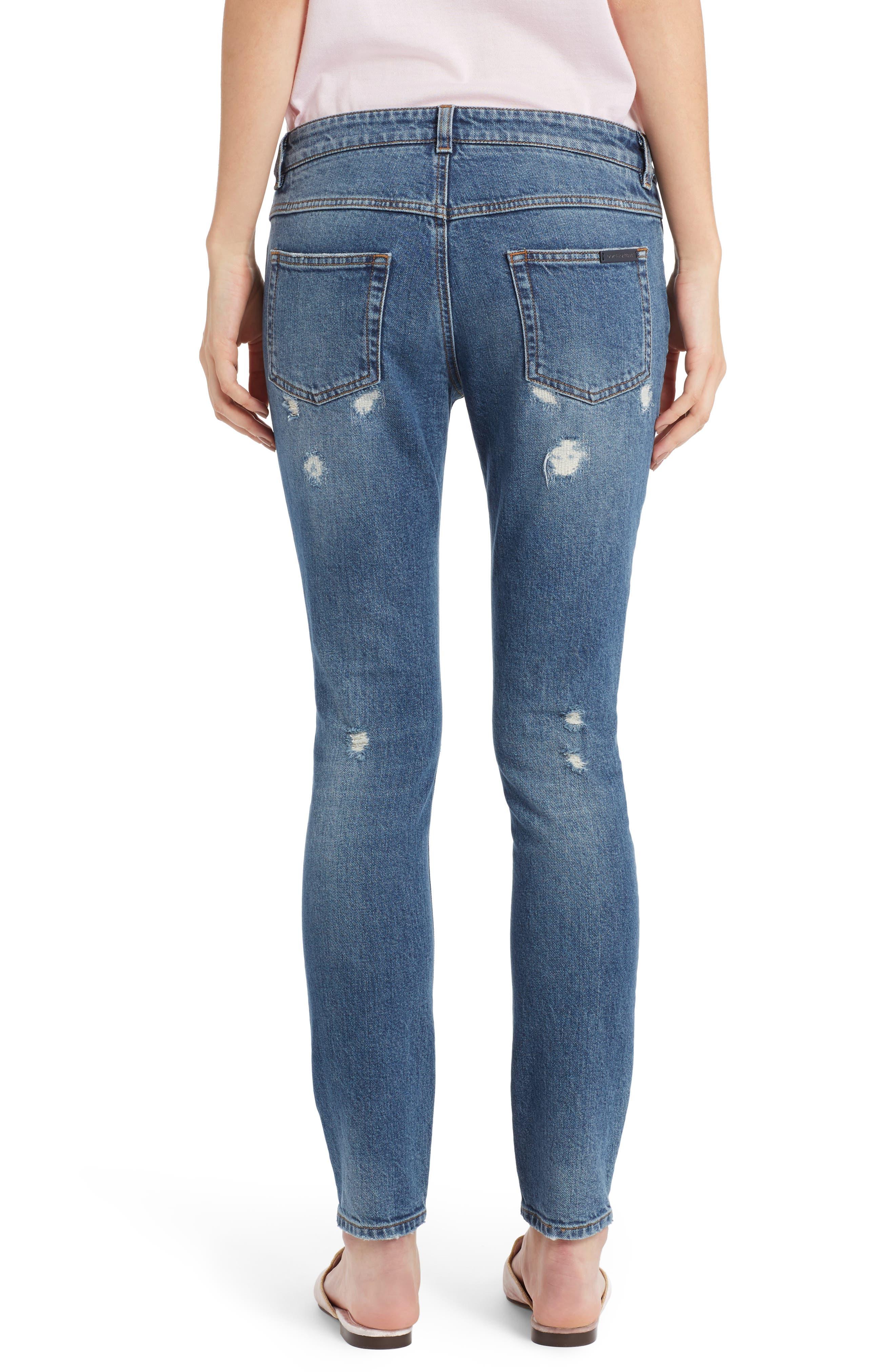 Alternate Image 2  - Dolce&Gabbana Ripped Skinny Jeans