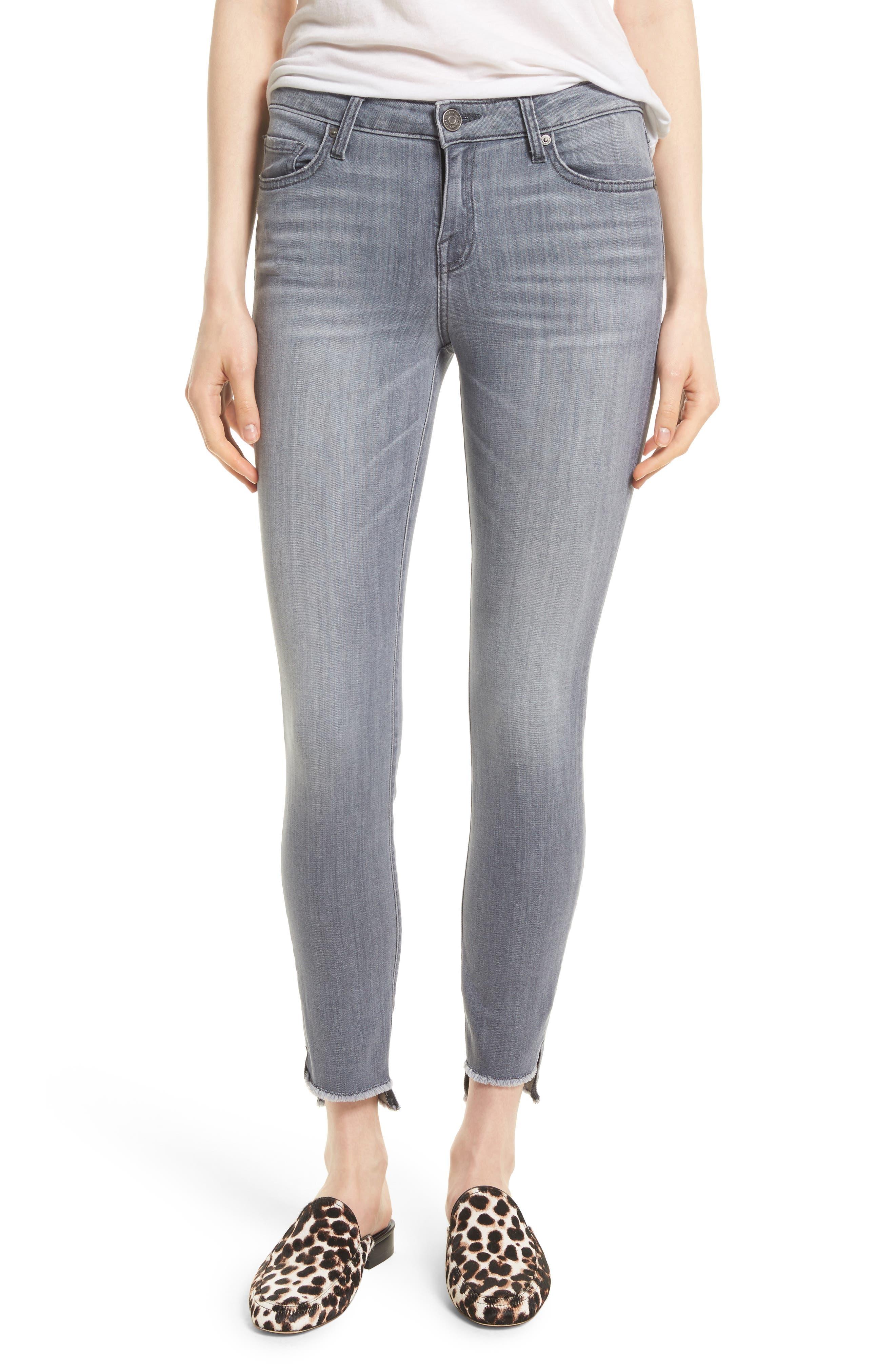 Main Image - Joie Step Hem Ankle Skinny Jeans (Cinder)