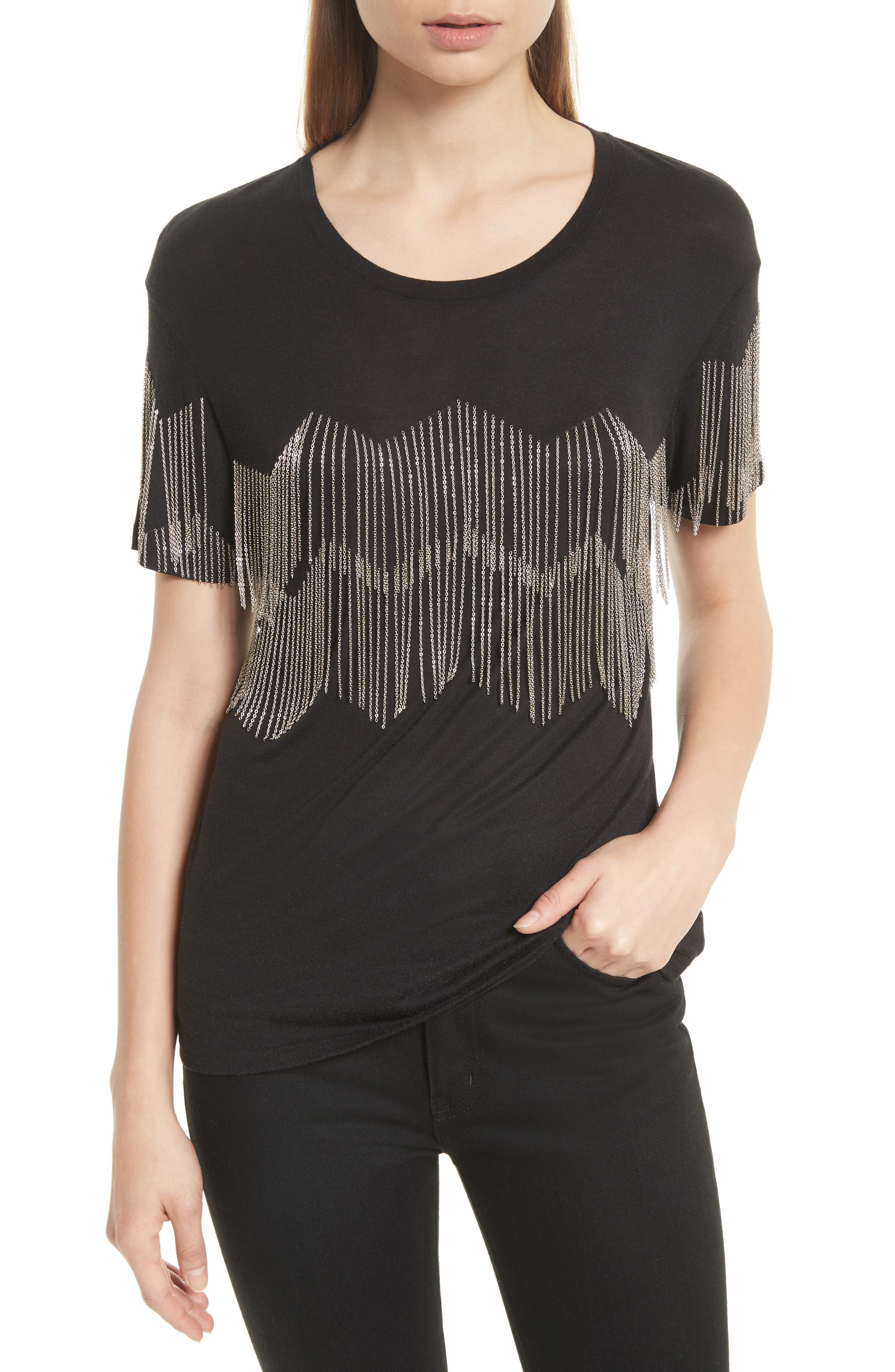 The Kooples Chain Fringe Tee