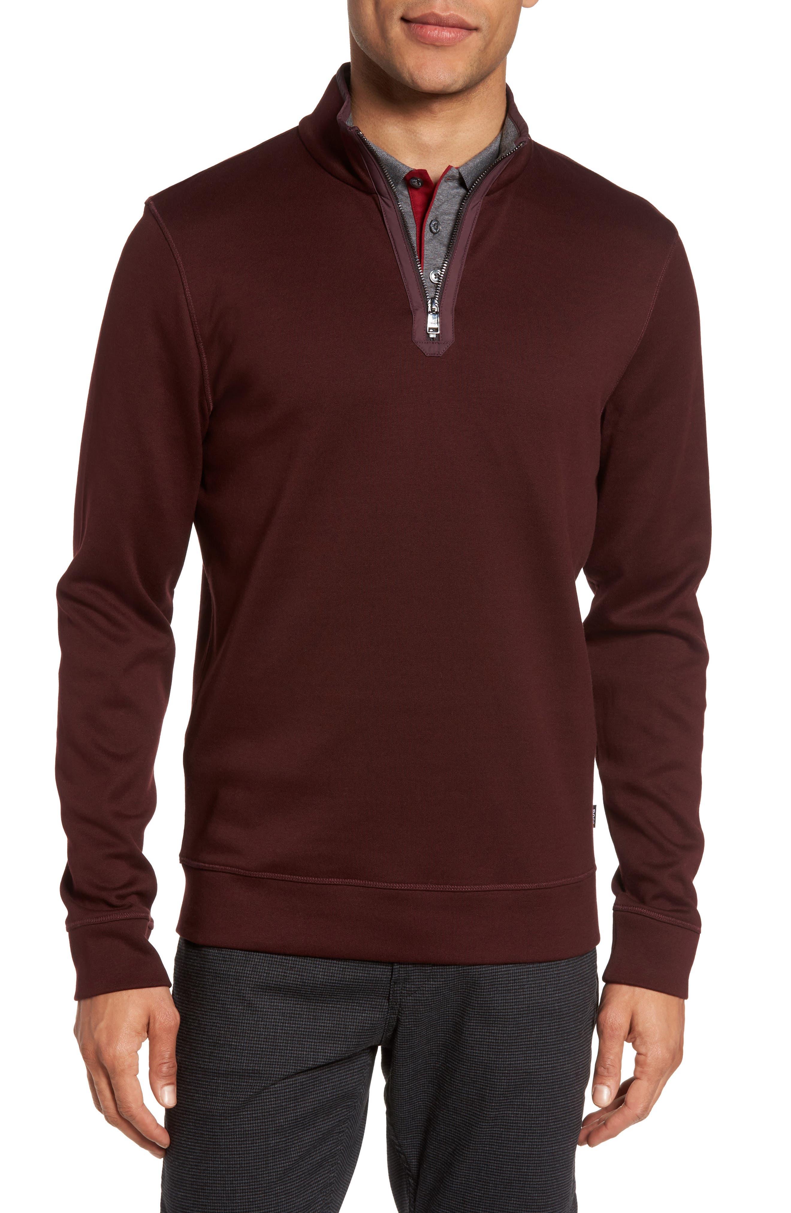BOSS Sidney Quarter Zip Pullover