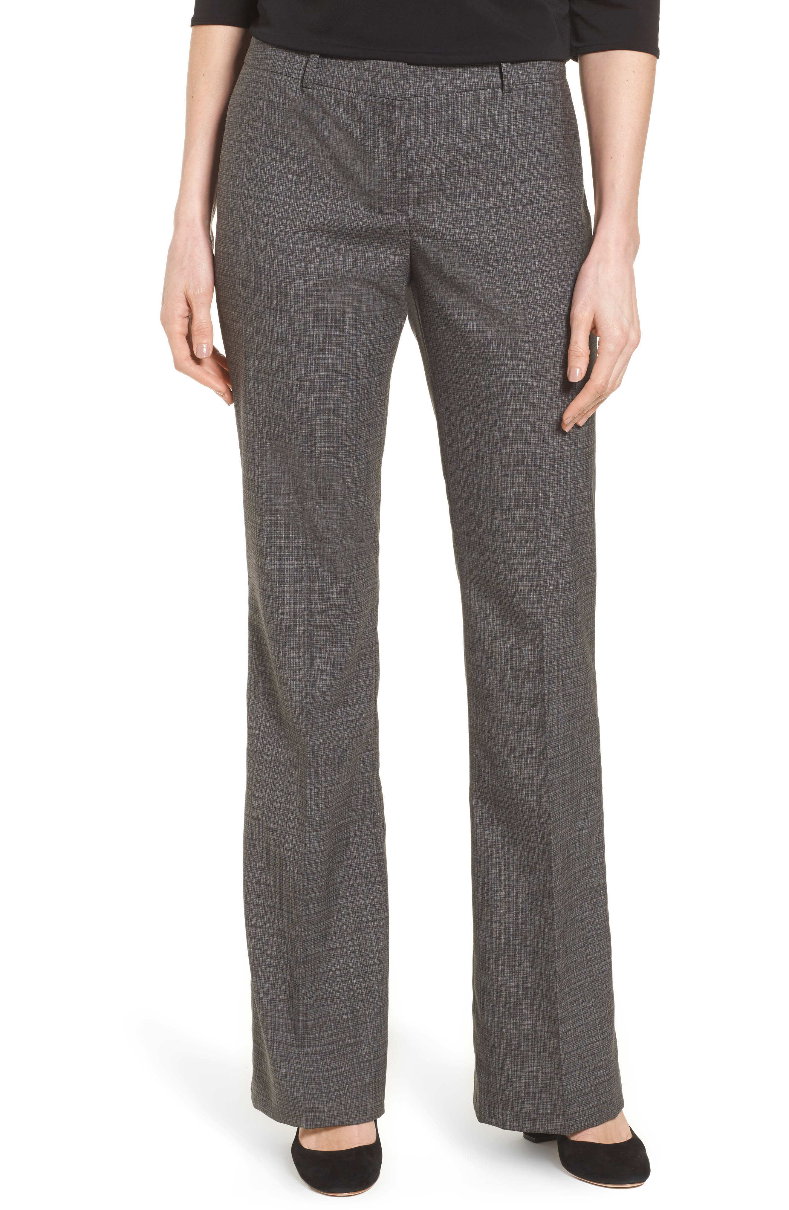 BOSS Tulea3 Plaid Stretch Wool Suit Trousers