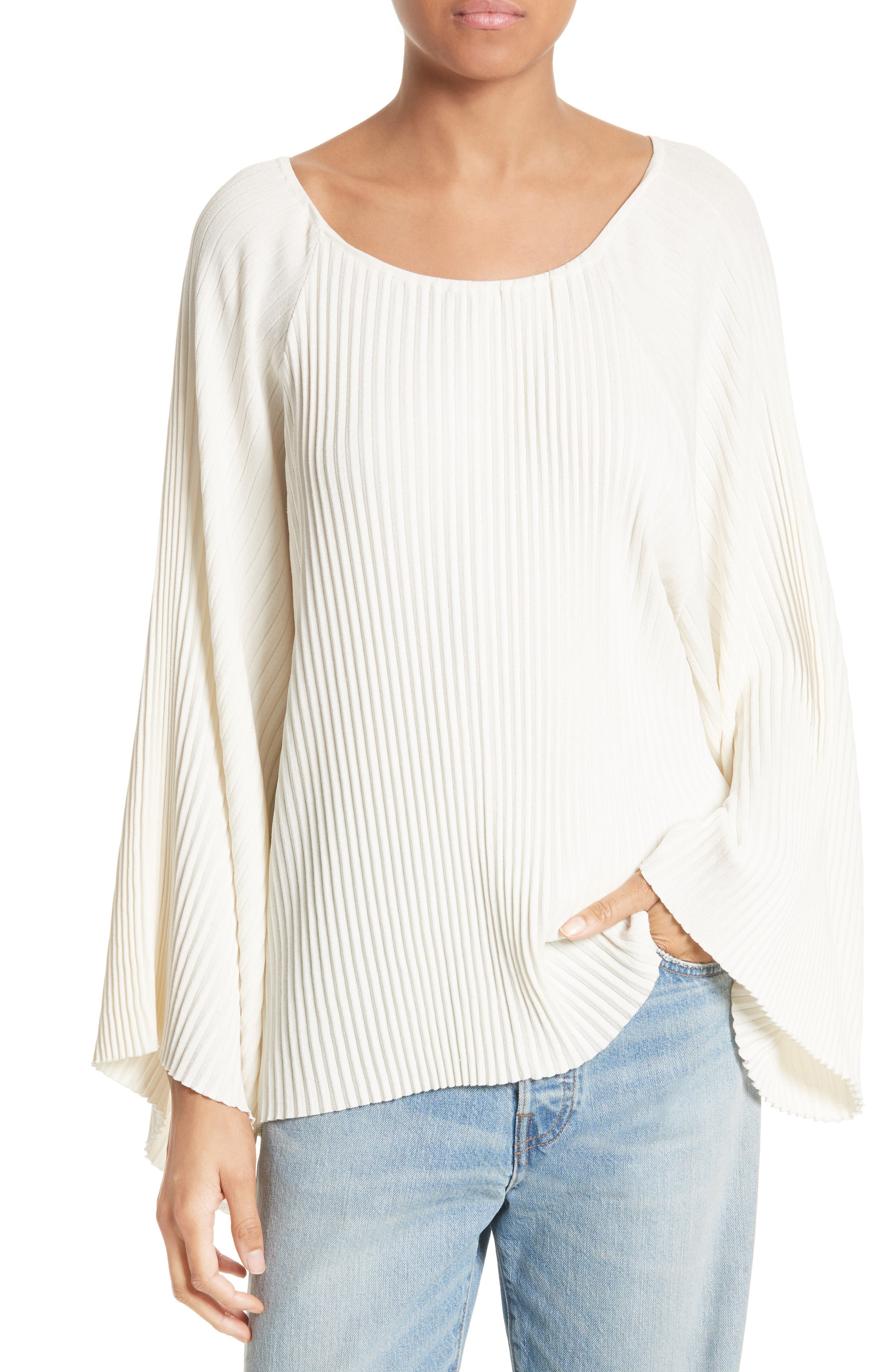 Elizabeth and James Regan Pleated Bell Sleeve Top