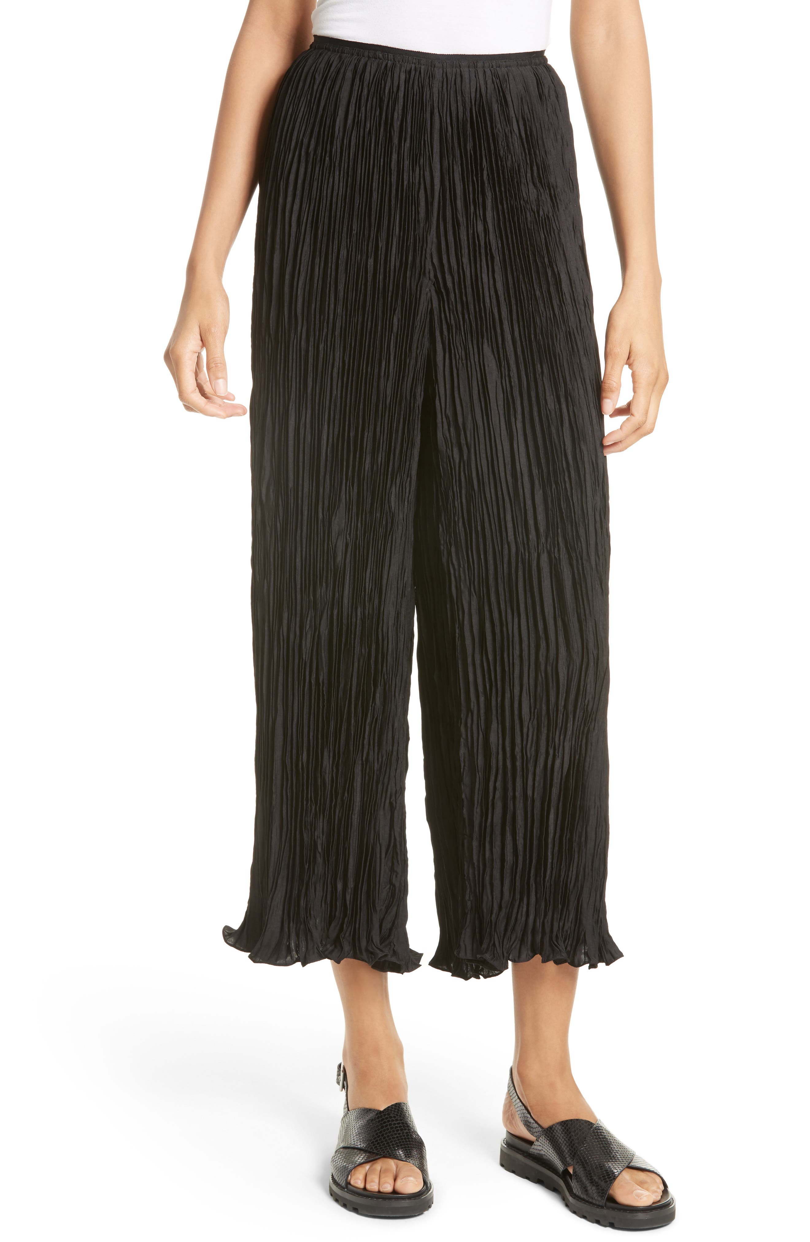 Elizabeth and James Crescent Pleated Crop Pants