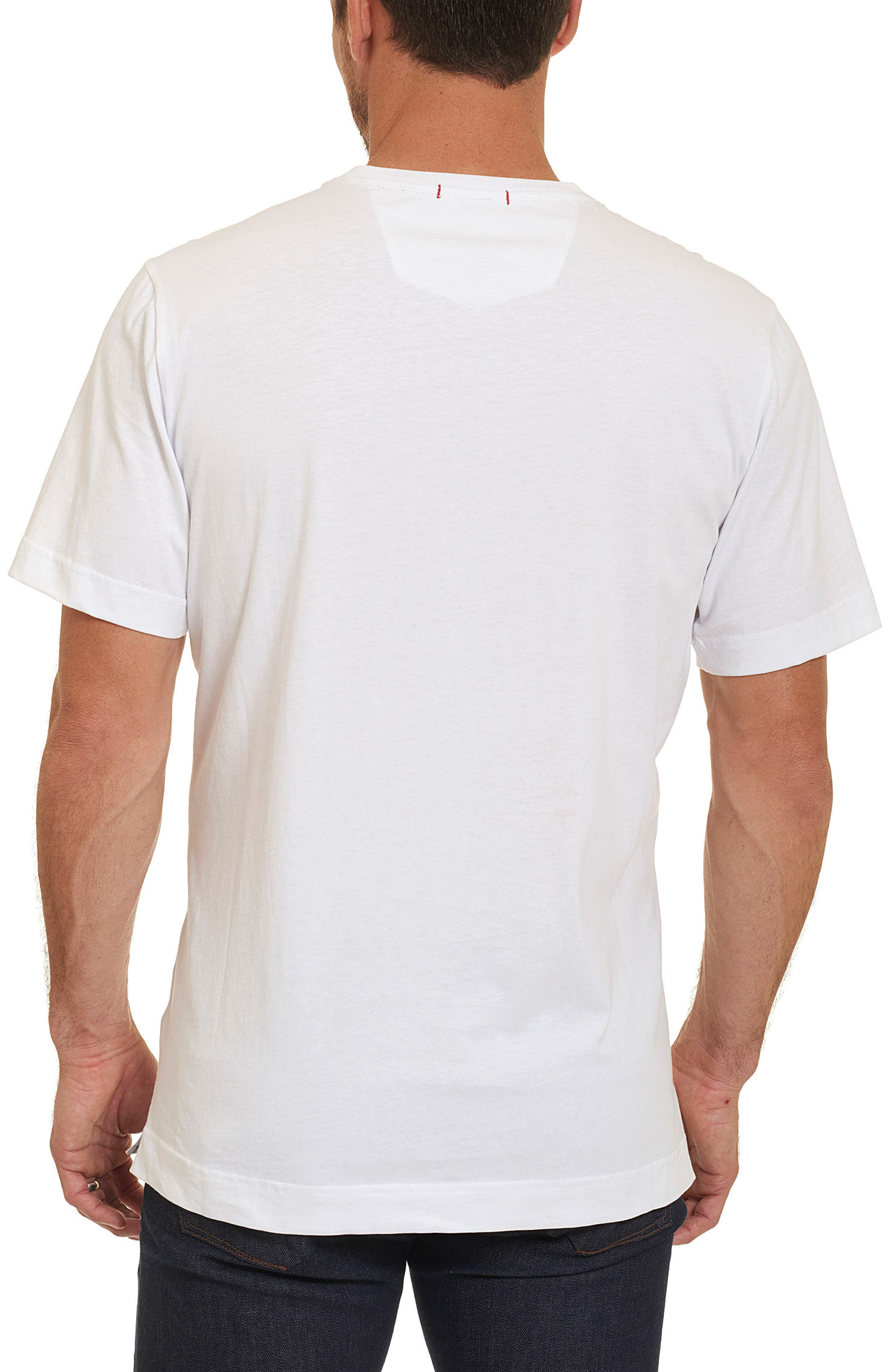 Monica Pier Classic Fit Graphic T-Shirt,                             Alternate thumbnail 2, color,                             White