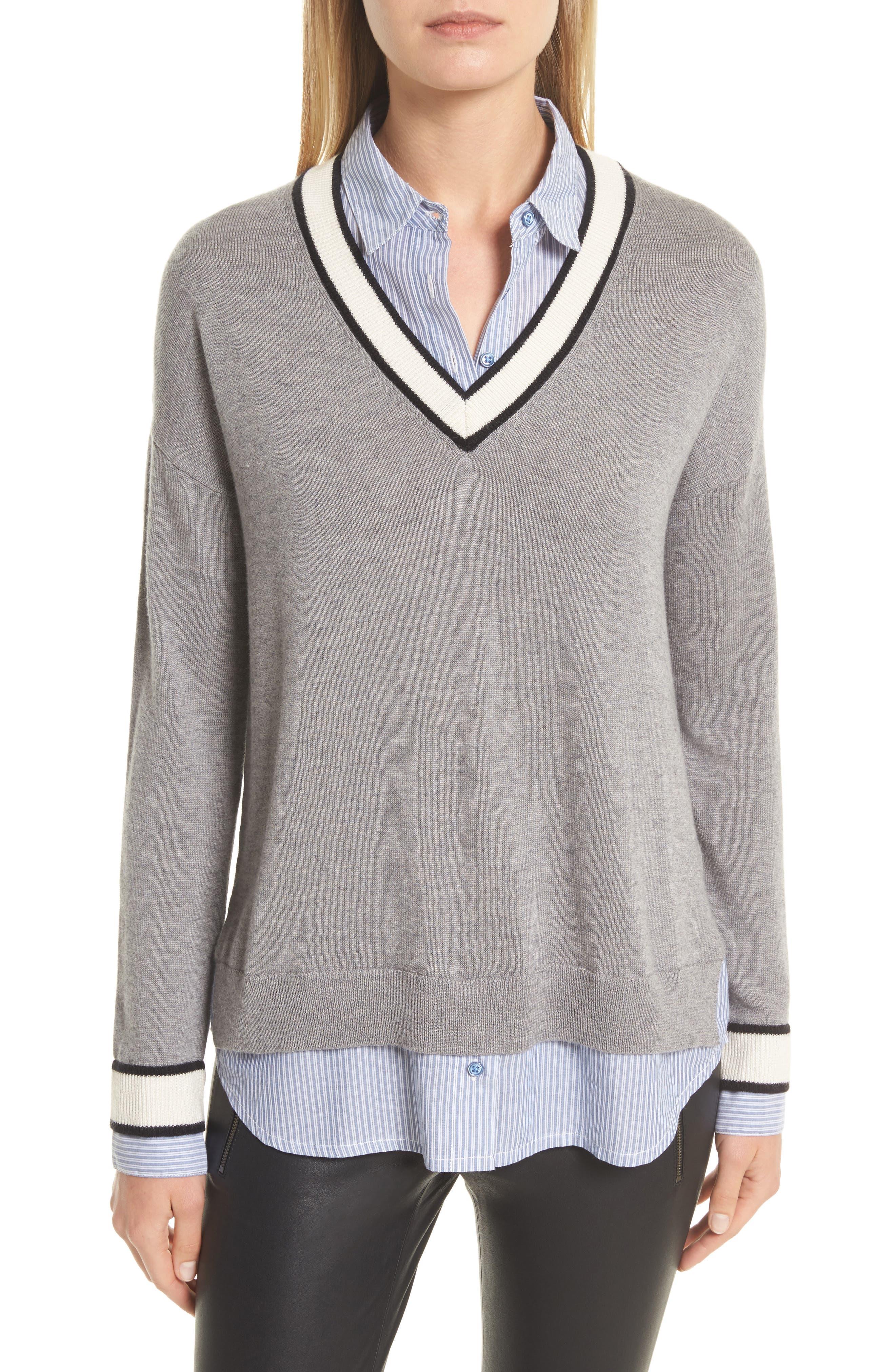 Joie Belva Layered Look Sweater