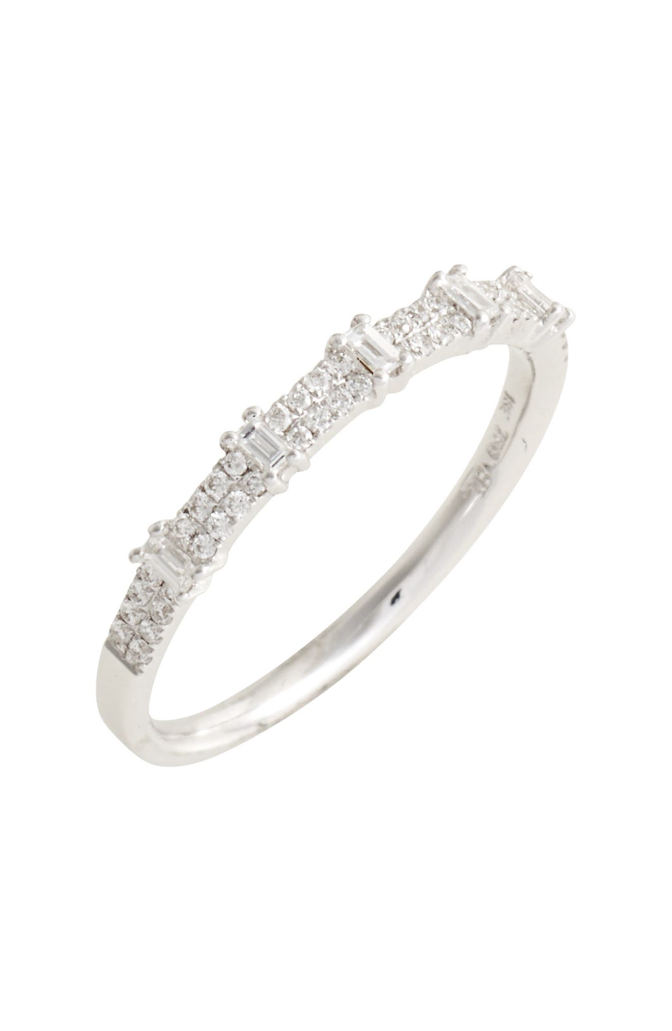 Amara Diamond Stack Ring,                         Main,                         color, White Gold