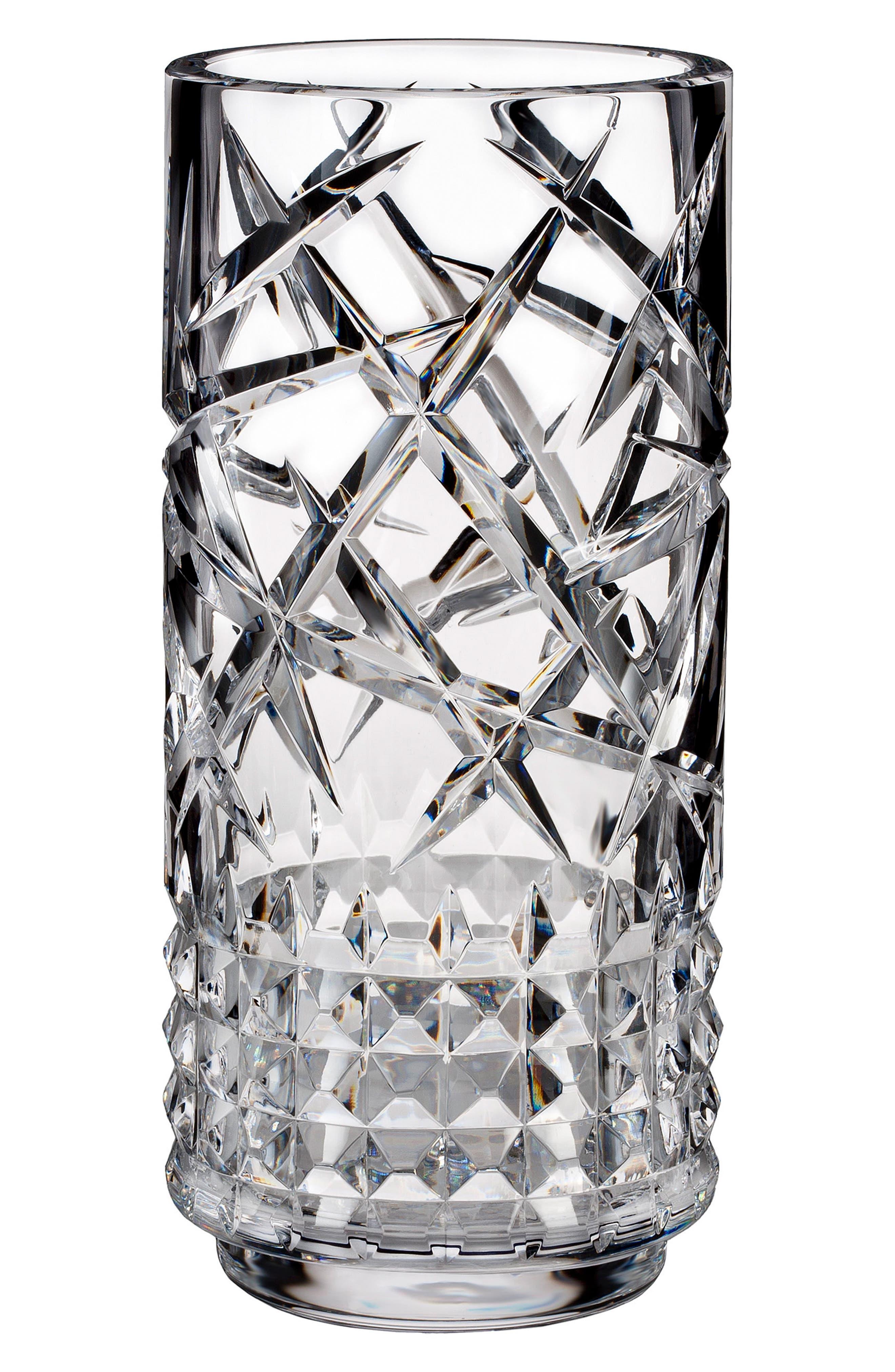 Fleurology Jeff Leatham Tina Lead Crystal Vase,                             Main thumbnail 1, color,                             Crystal