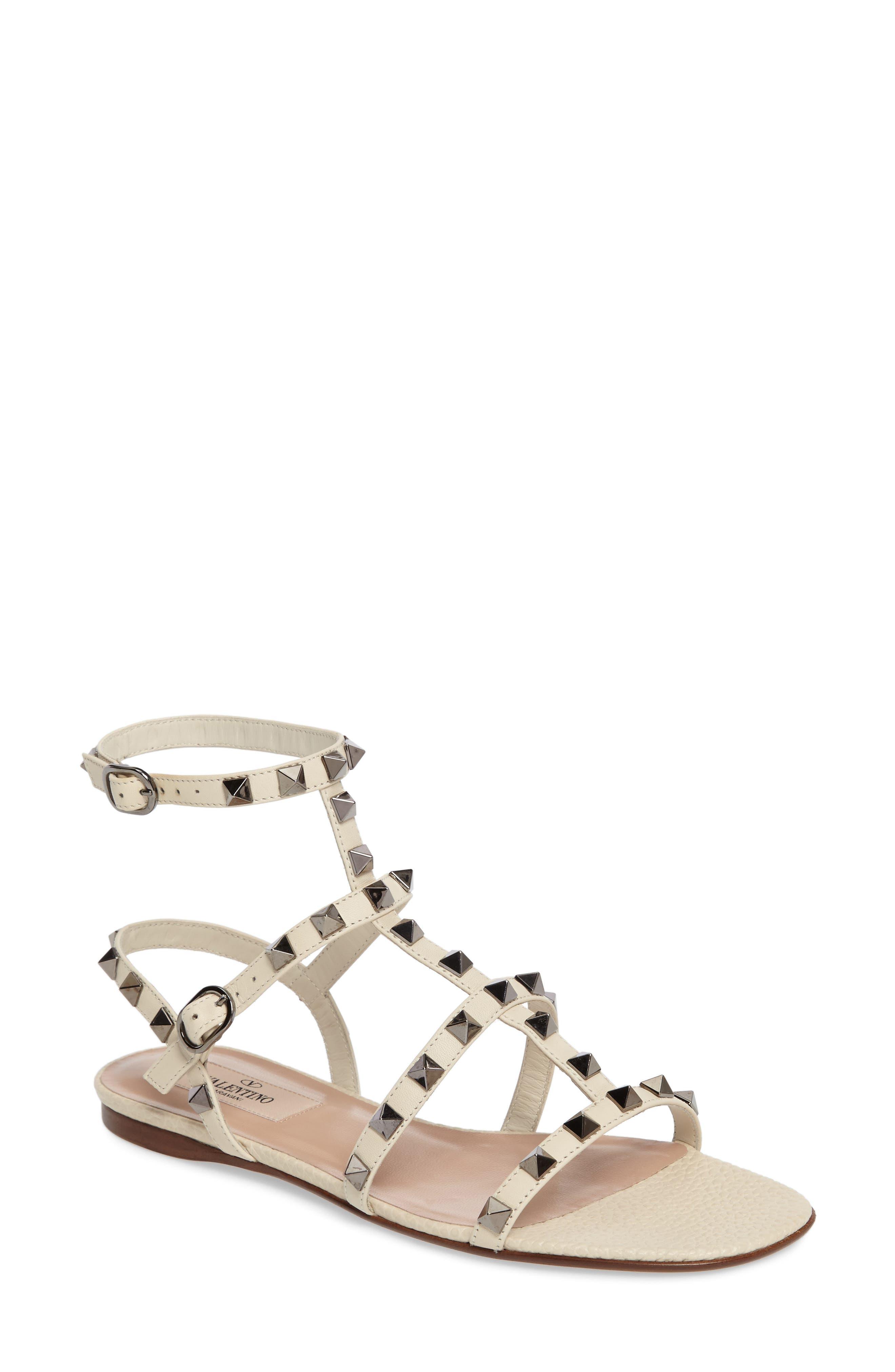 Main Image - Valentino Rockstud Gladiator Sandal (Women)