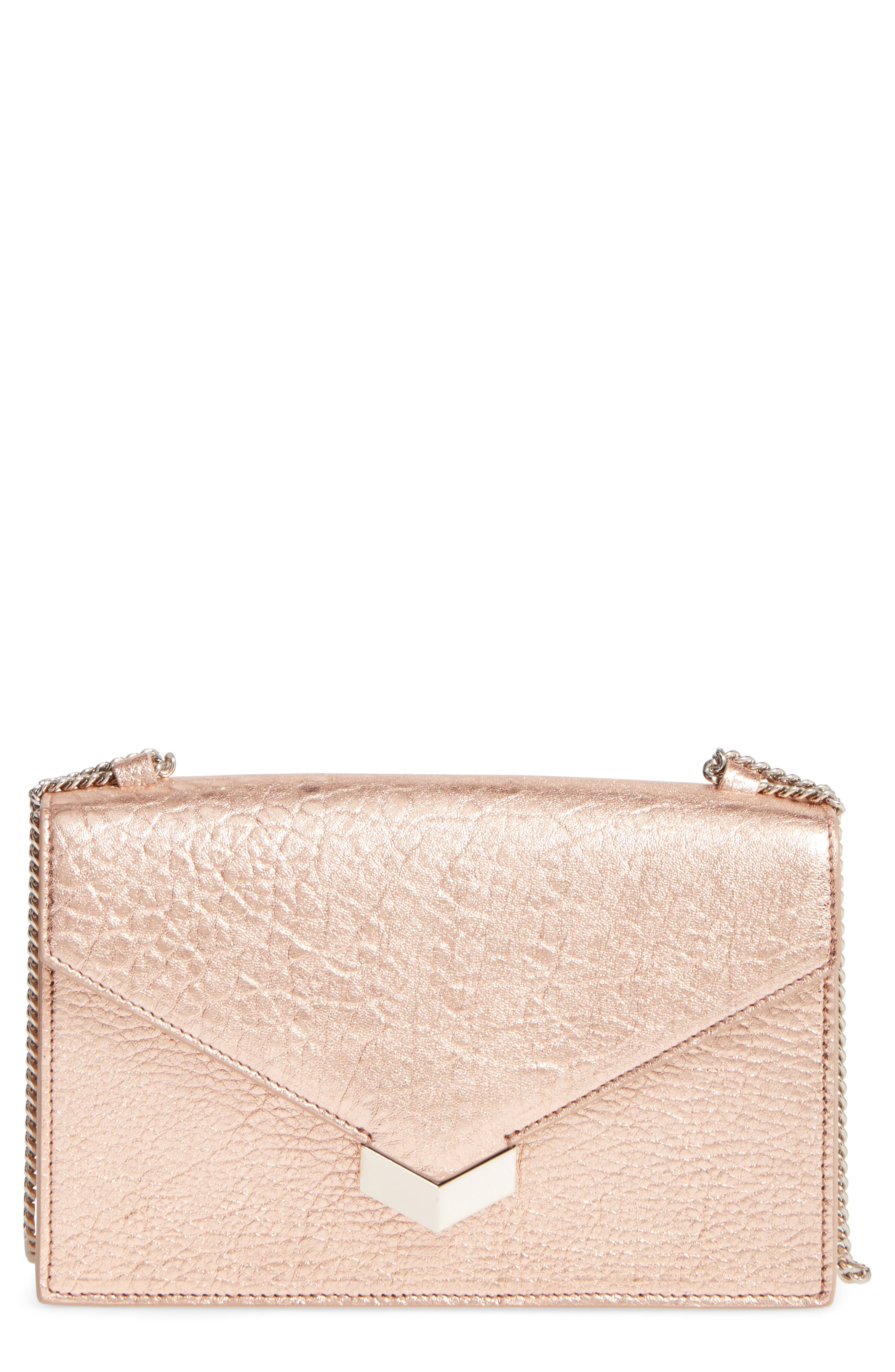 Main Image - Jimmy Choo Leila Grainy Lambskin Leather Crossbody Bag