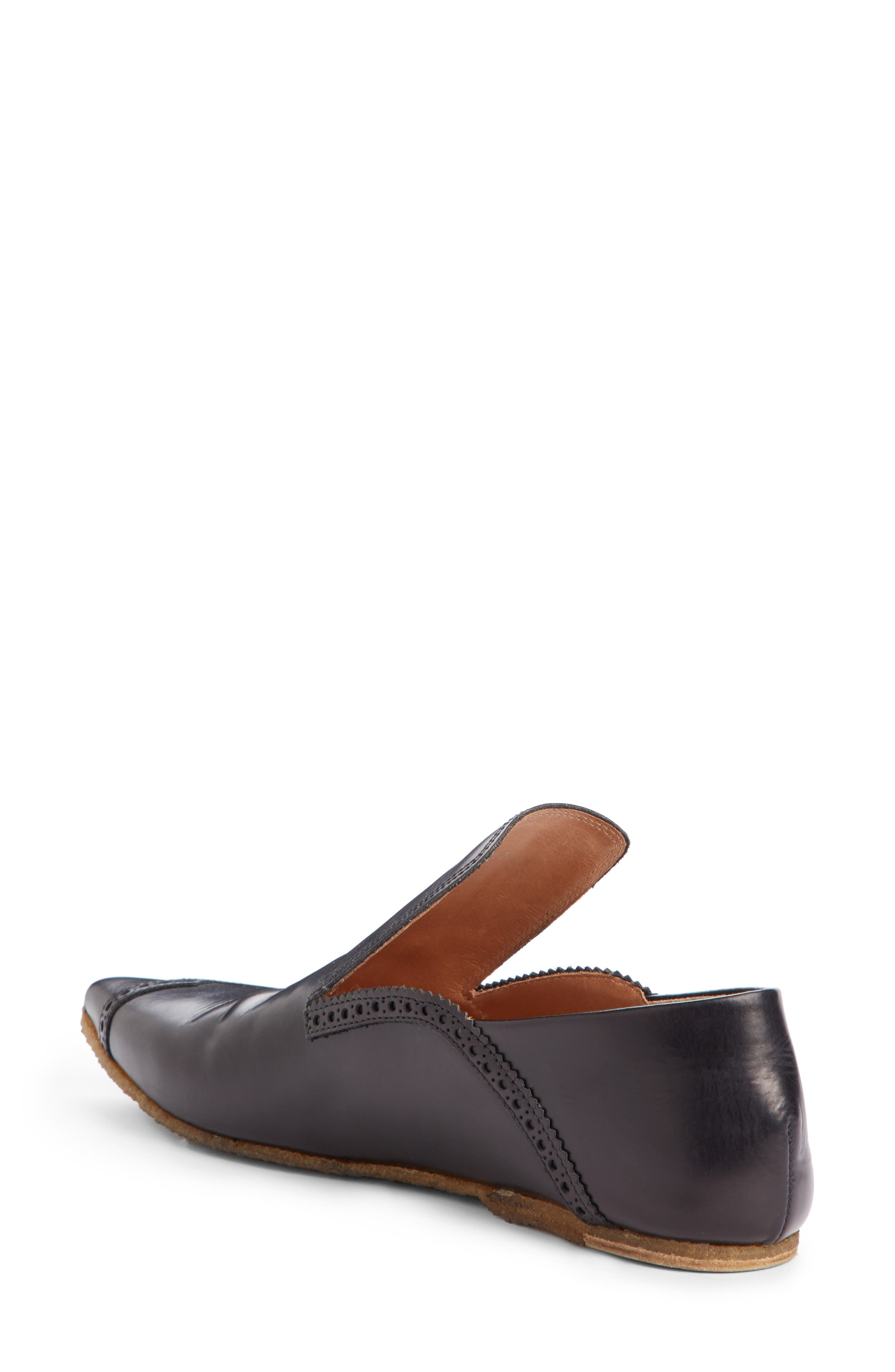 Pointy Toe Loafer,                             Alternate thumbnail 2, color,                             Black