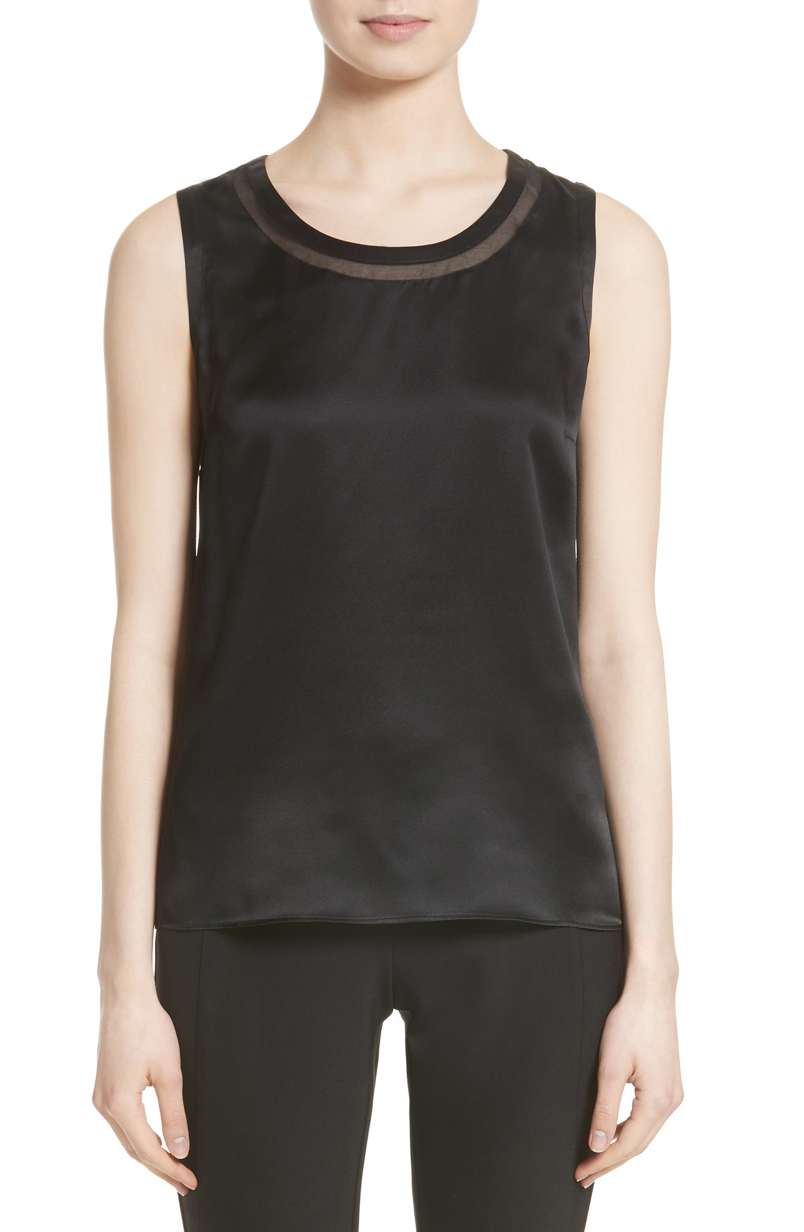 Lafayette 148 New York Anisa Combo Blouse (Nordstrom Exclusive)
