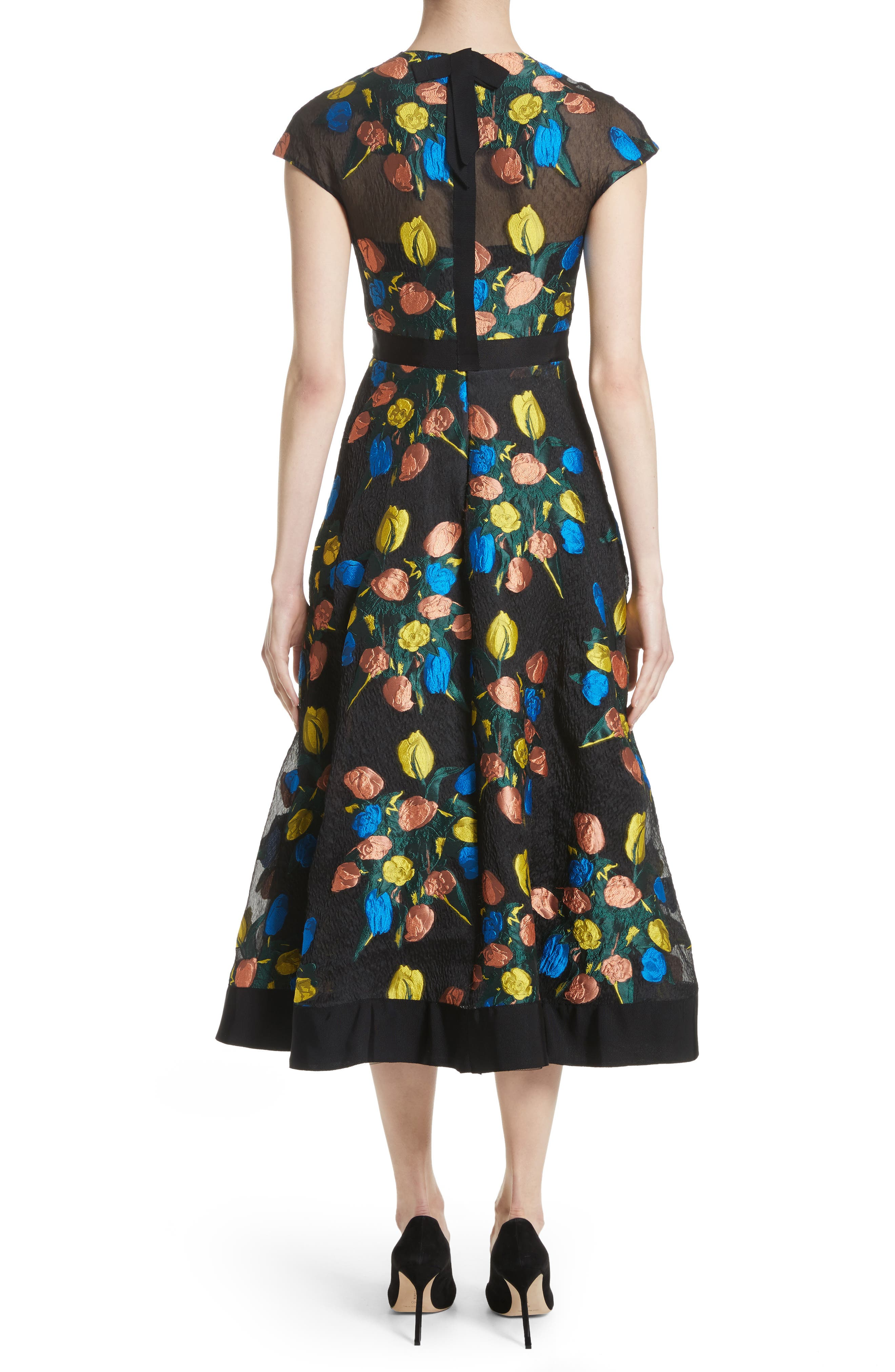 Alternate Image 2  - Lela Rose Tulip Embroidered Fit & Flare Dress