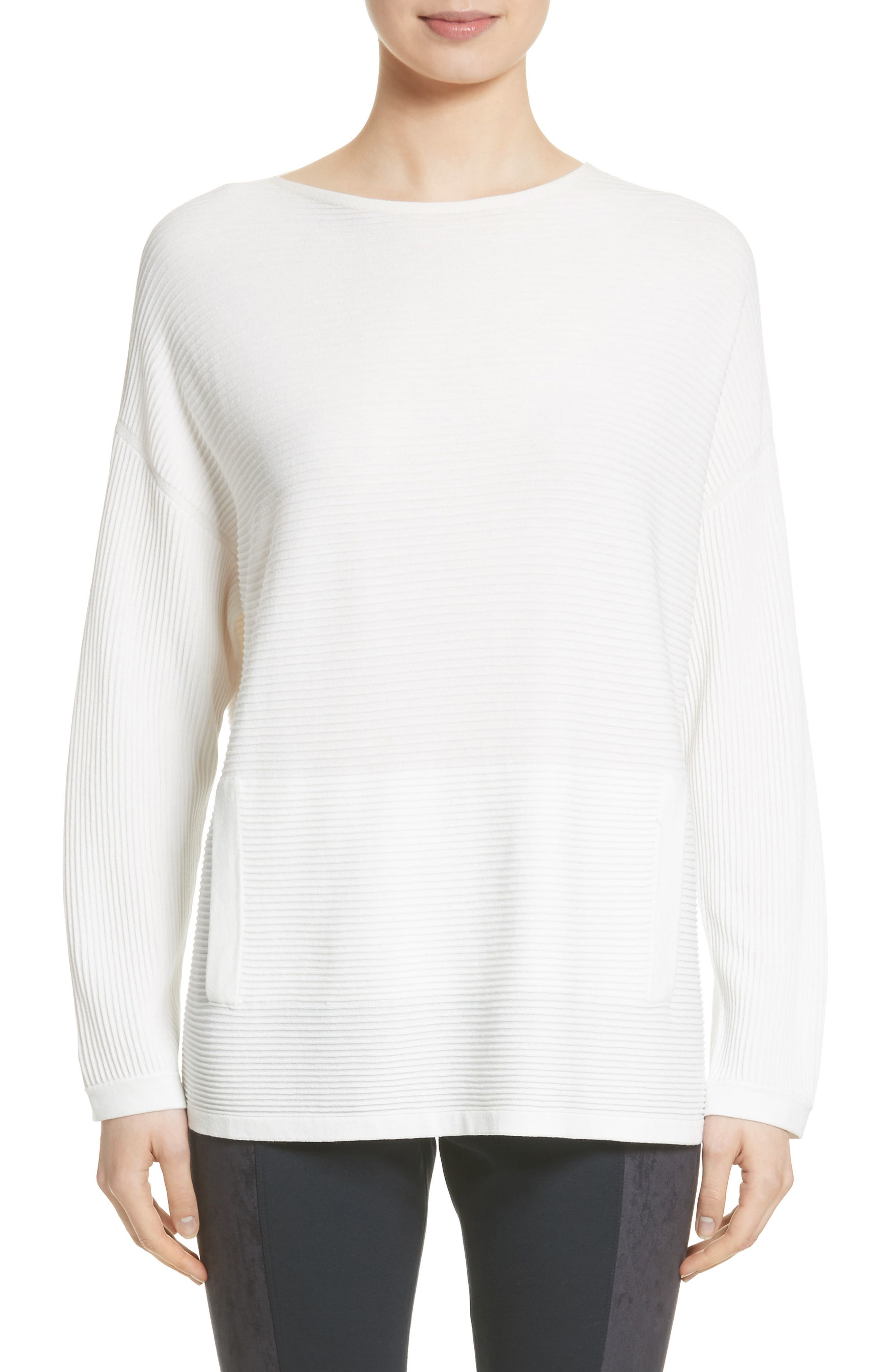 Lafayette 148 New York Rib Knit Pullover (Nordstrom Exclusive)