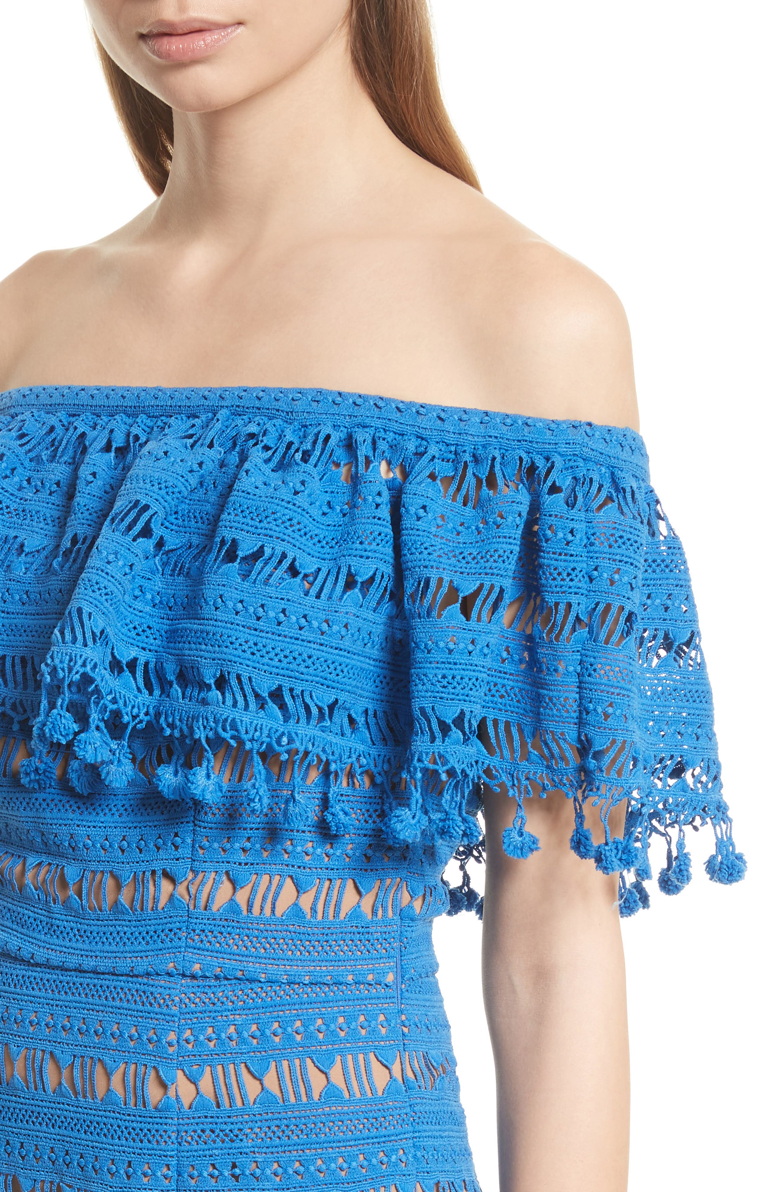 Alternate Image 4  - Tracy Reese Off the Shoulder Crochet Dress