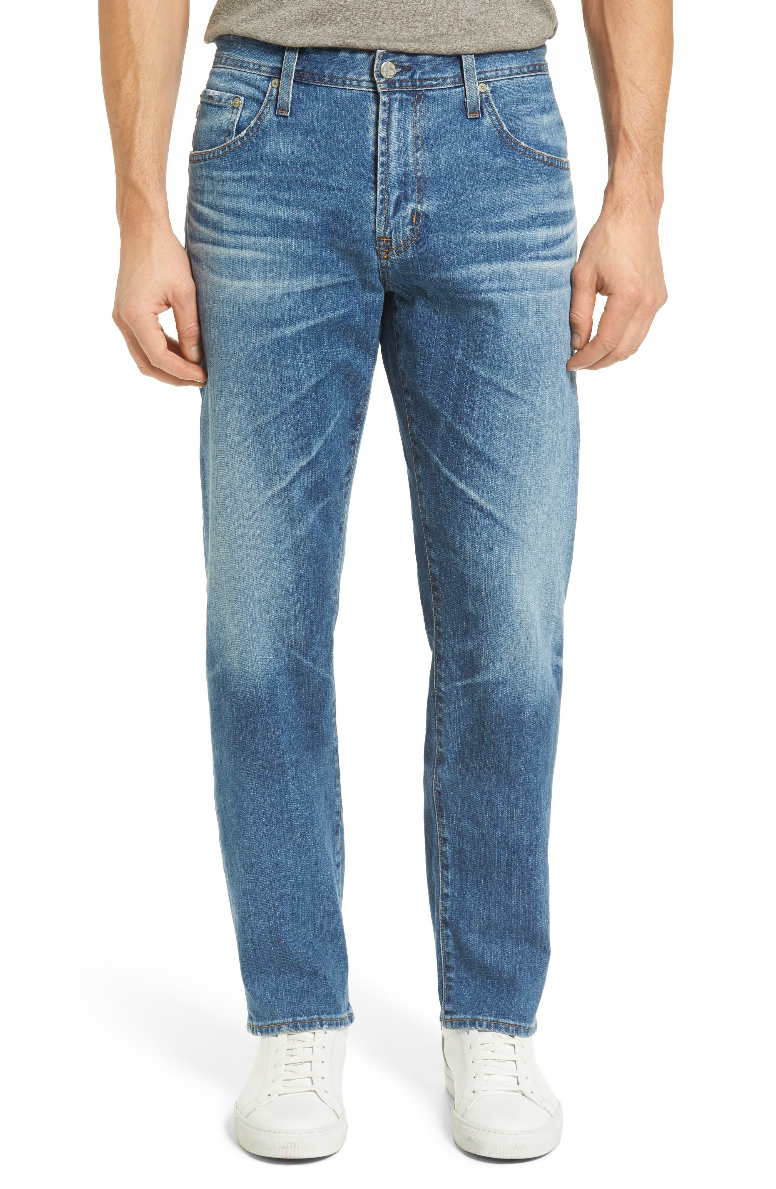 AG Ives Straight Leg Jeans (16 Years Broken Ground)