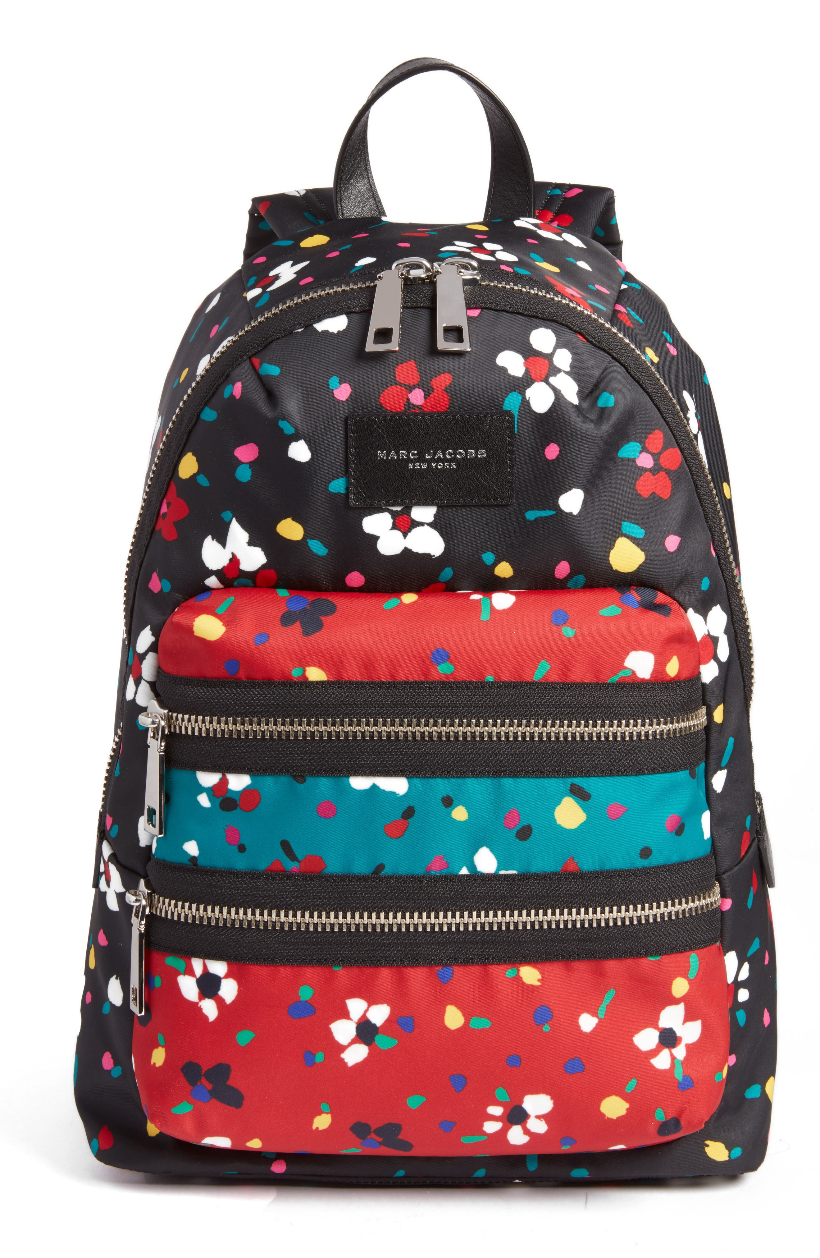 MARC JACOBS Biker Floral Print Backpack