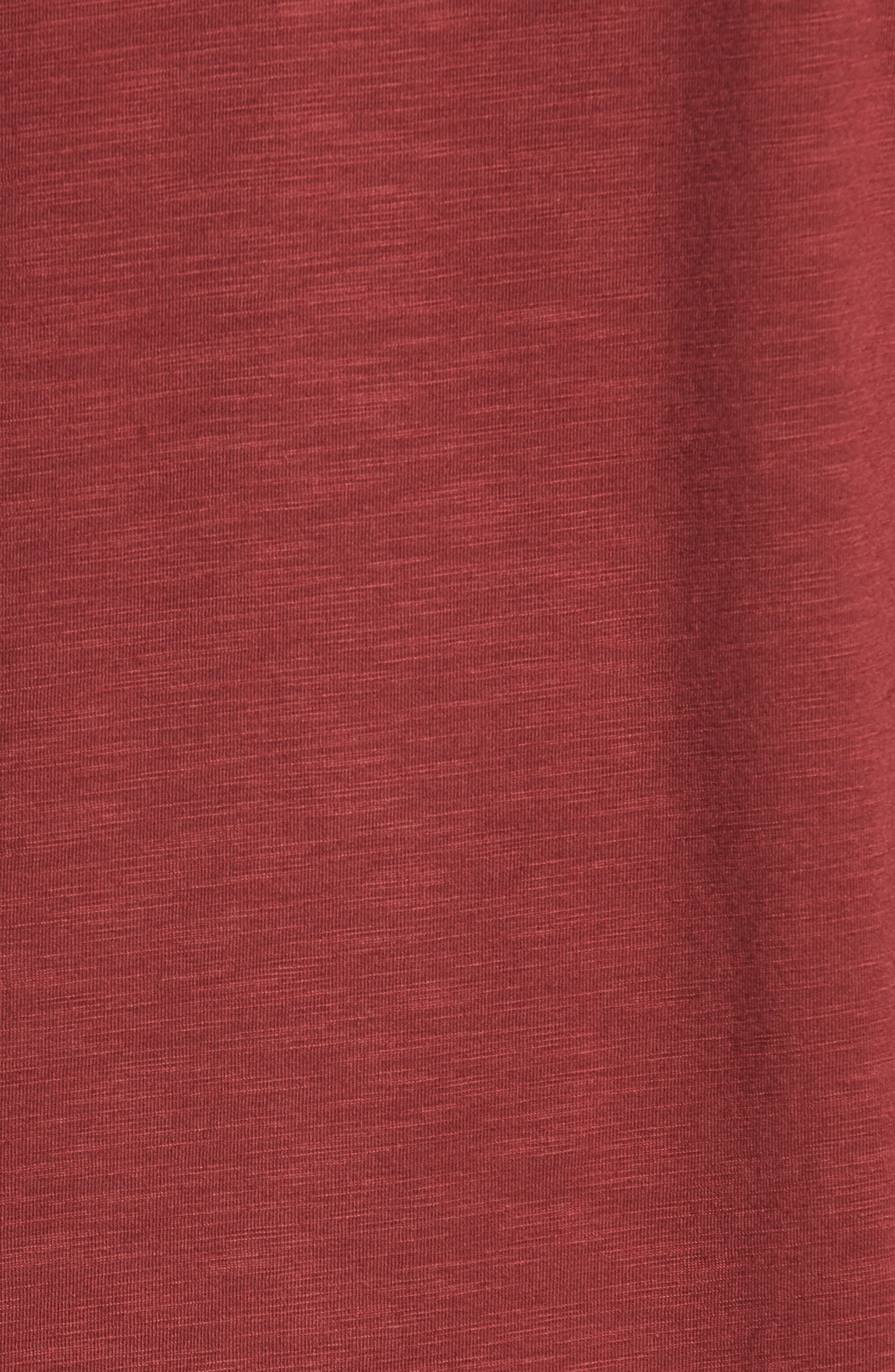 'Trumbull' Trim Fit Slubbed T-Shirt,                             Alternate thumbnail 5, color,                             Oxblood