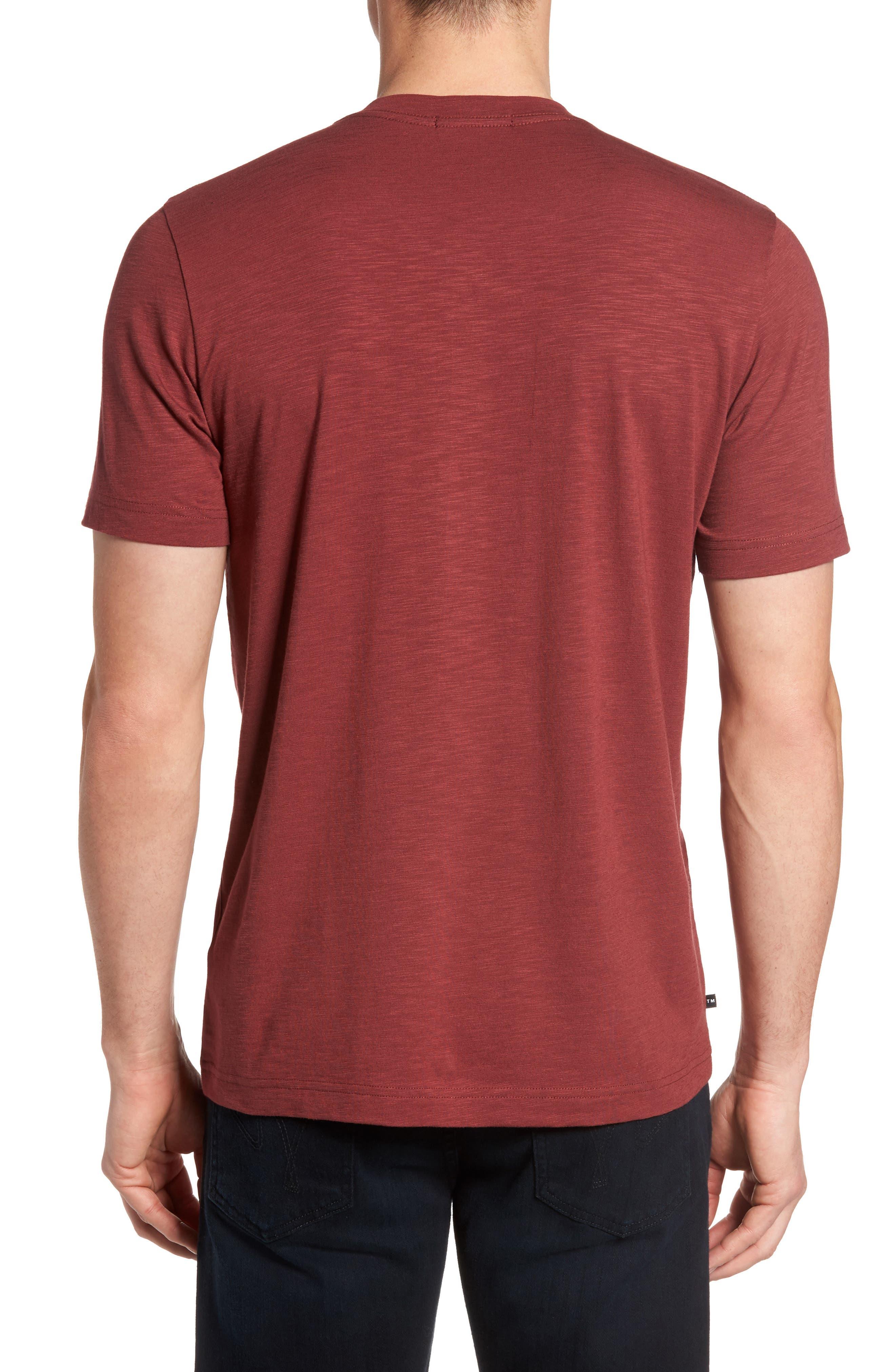 'Trumbull' Trim Fit Slubbed T-Shirt,                             Alternate thumbnail 2, color,                             Oxblood