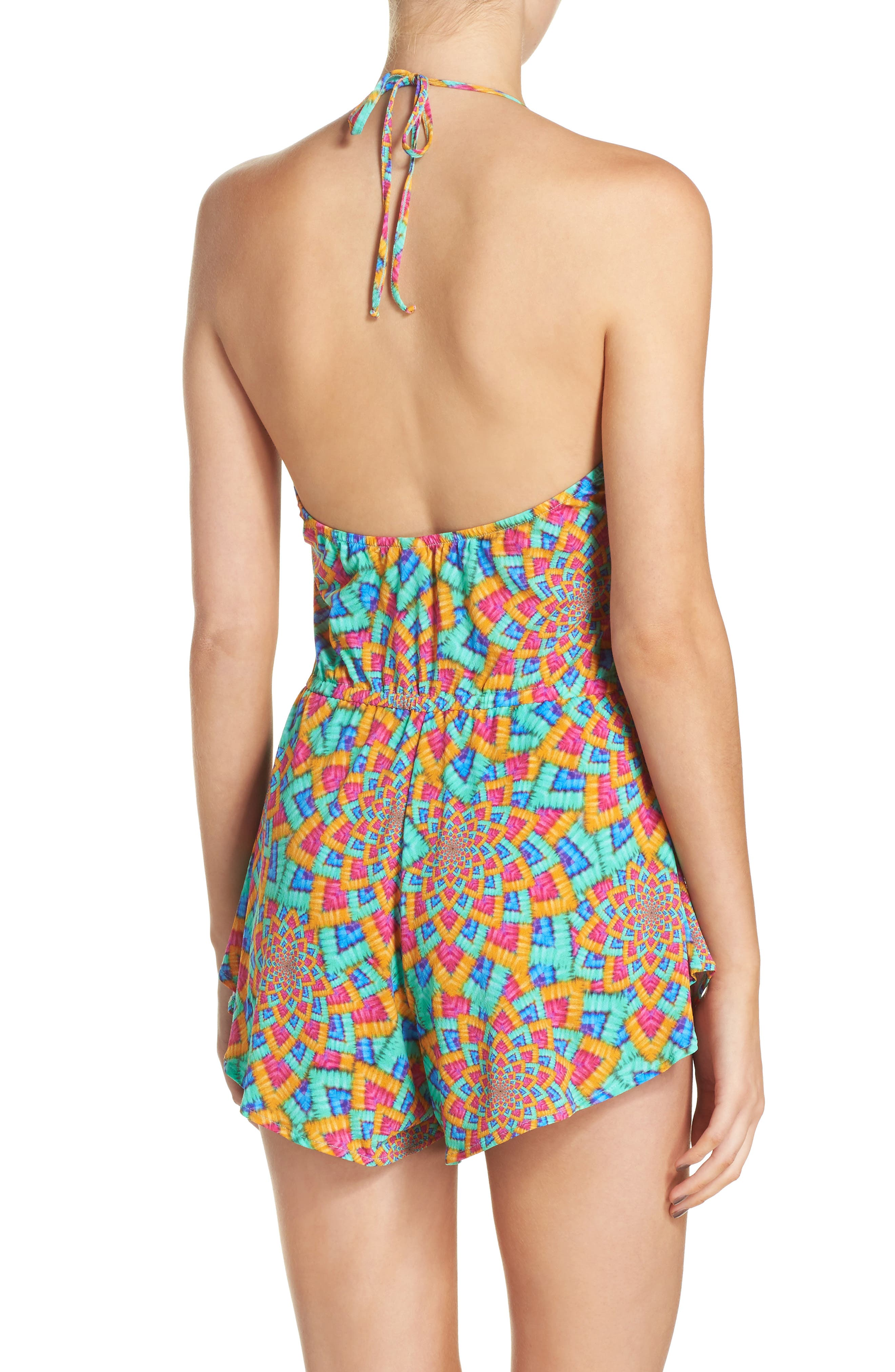 Alternate Image 2  - Luli Fama Print Cover-Up Romper
