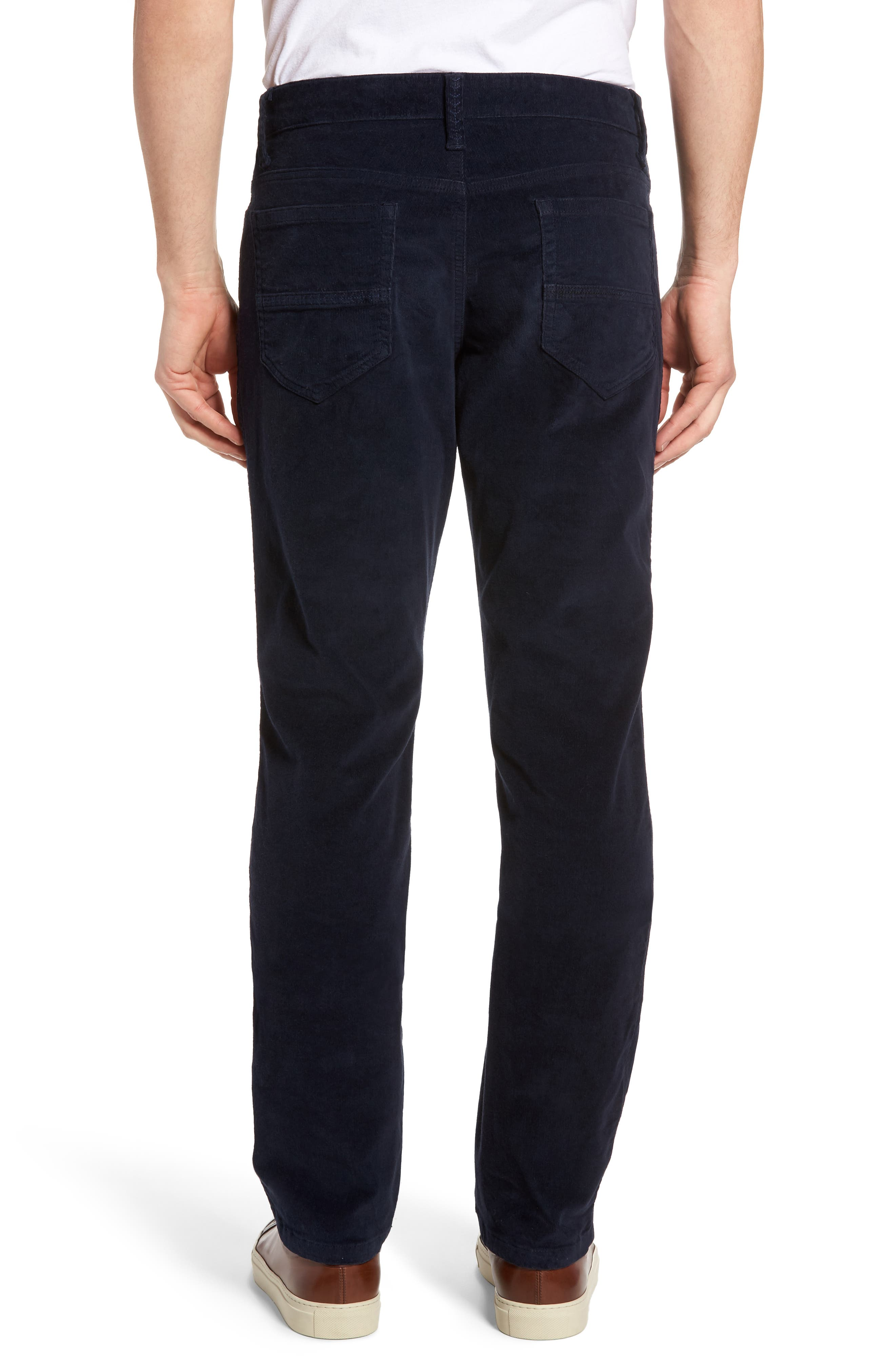 Modern Fit Stretch Corduroy Pants,                             Alternate thumbnail 2, color,                             Marine