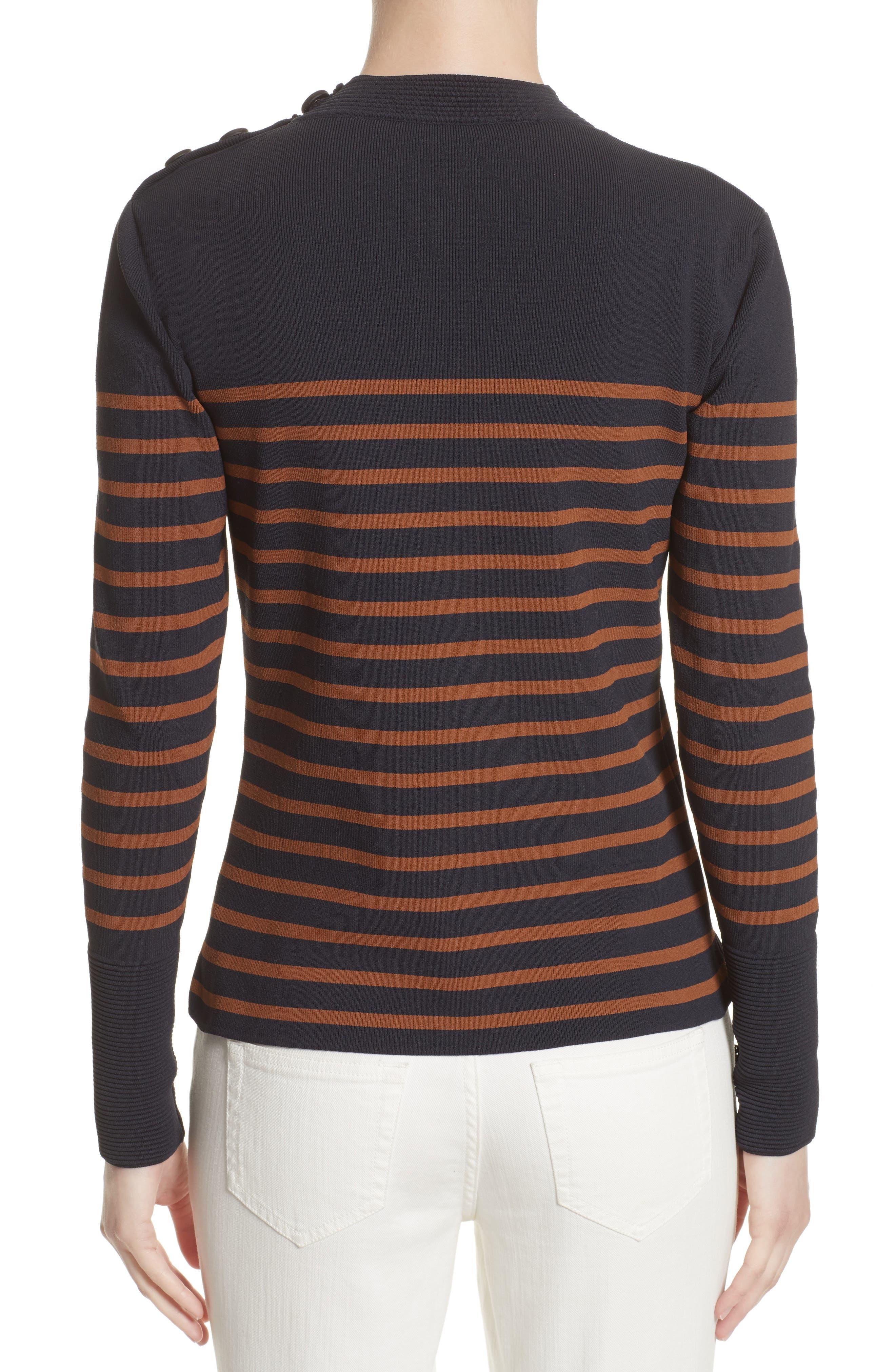 Selicia Stripe Sweater,                             Alternate thumbnail 2, color,                             Black