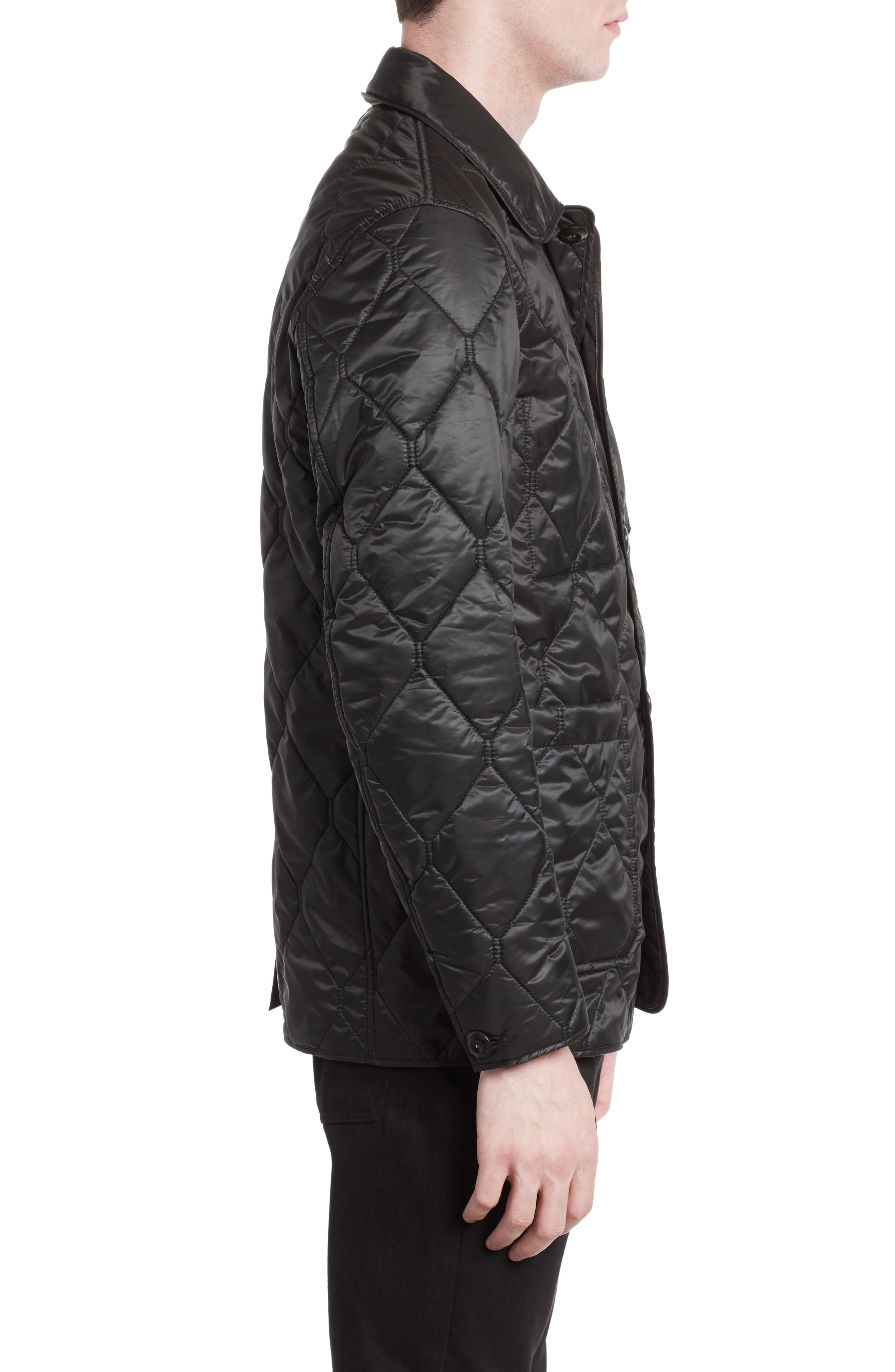 Alternate Image 3  - Burberry Rushton Trim Fit Quilted Jacket