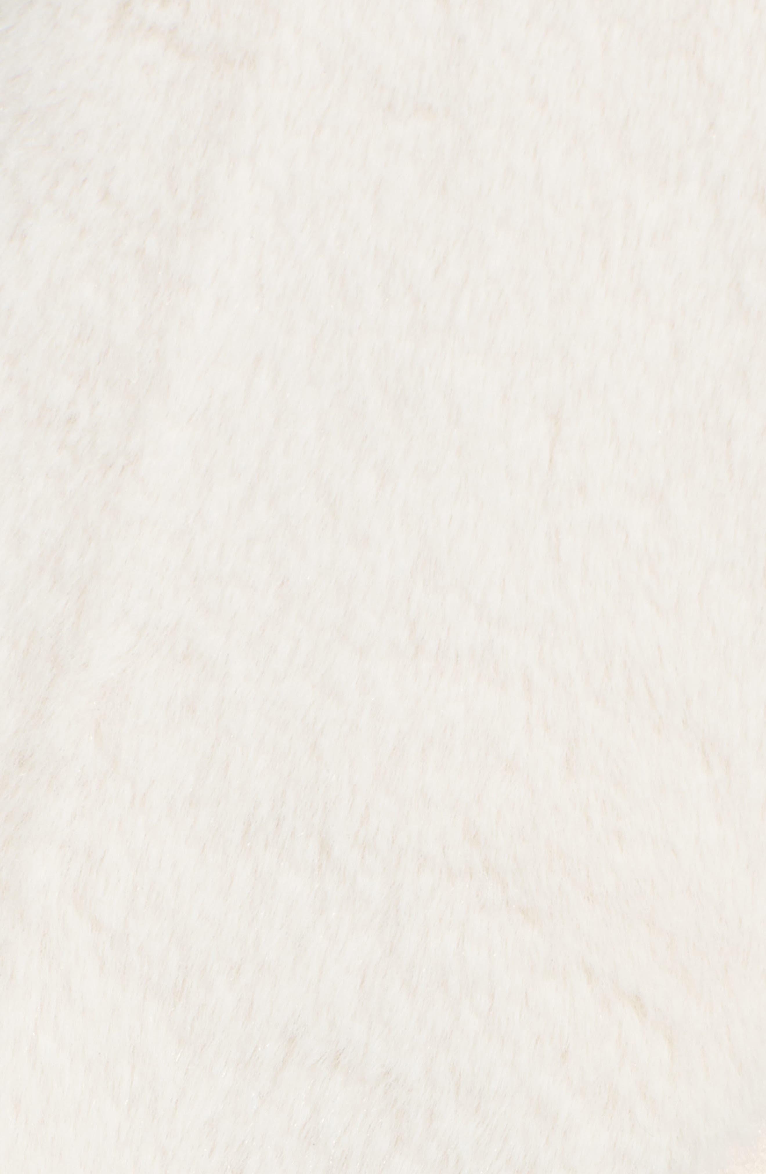 Faux Shearling Vest,                             Alternate thumbnail 5, color,                             Ivory
