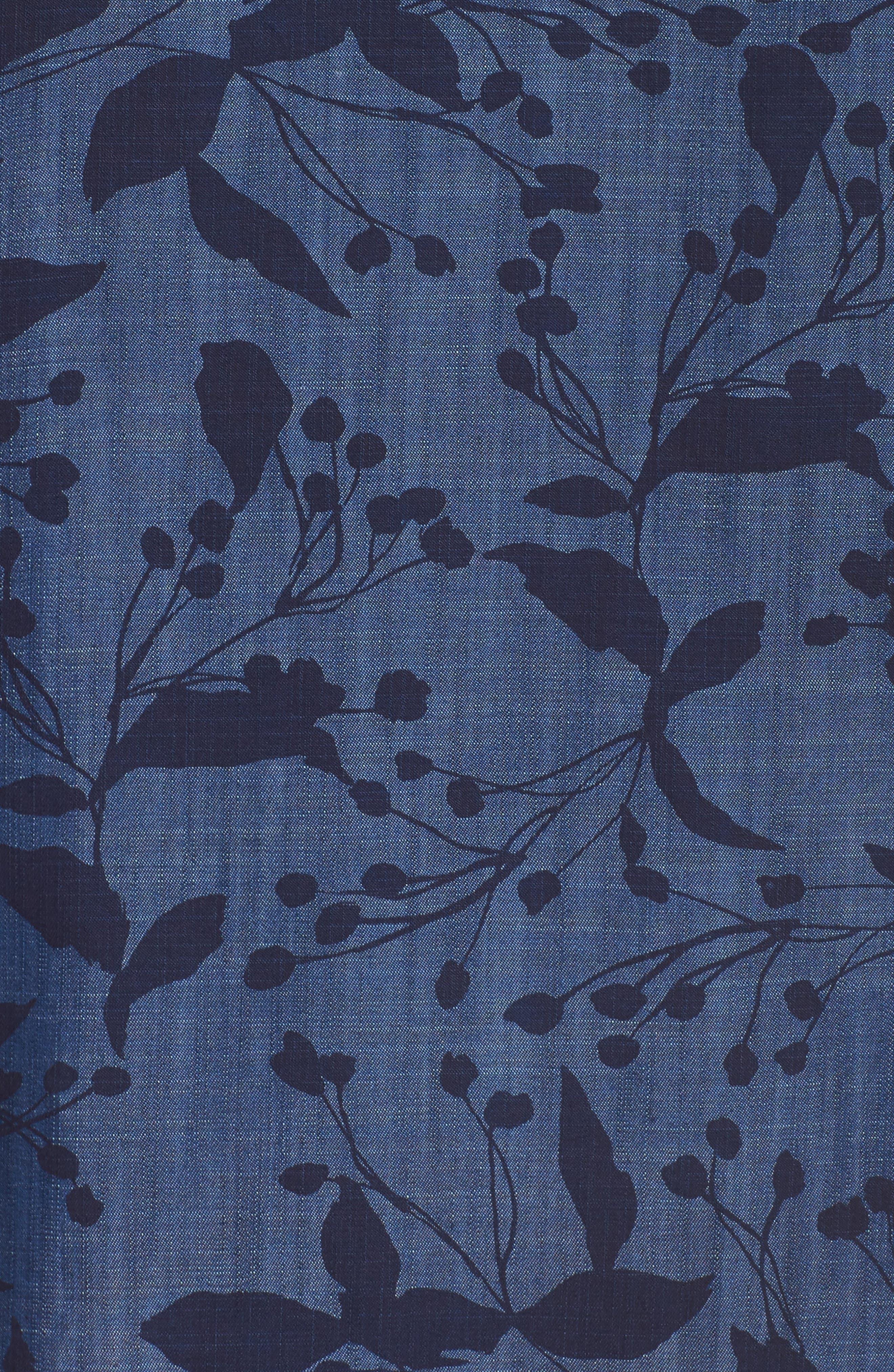 Alternate Image 5  - Foxcroft Addison Floral Print Tencel® Shirt (Plus Size)