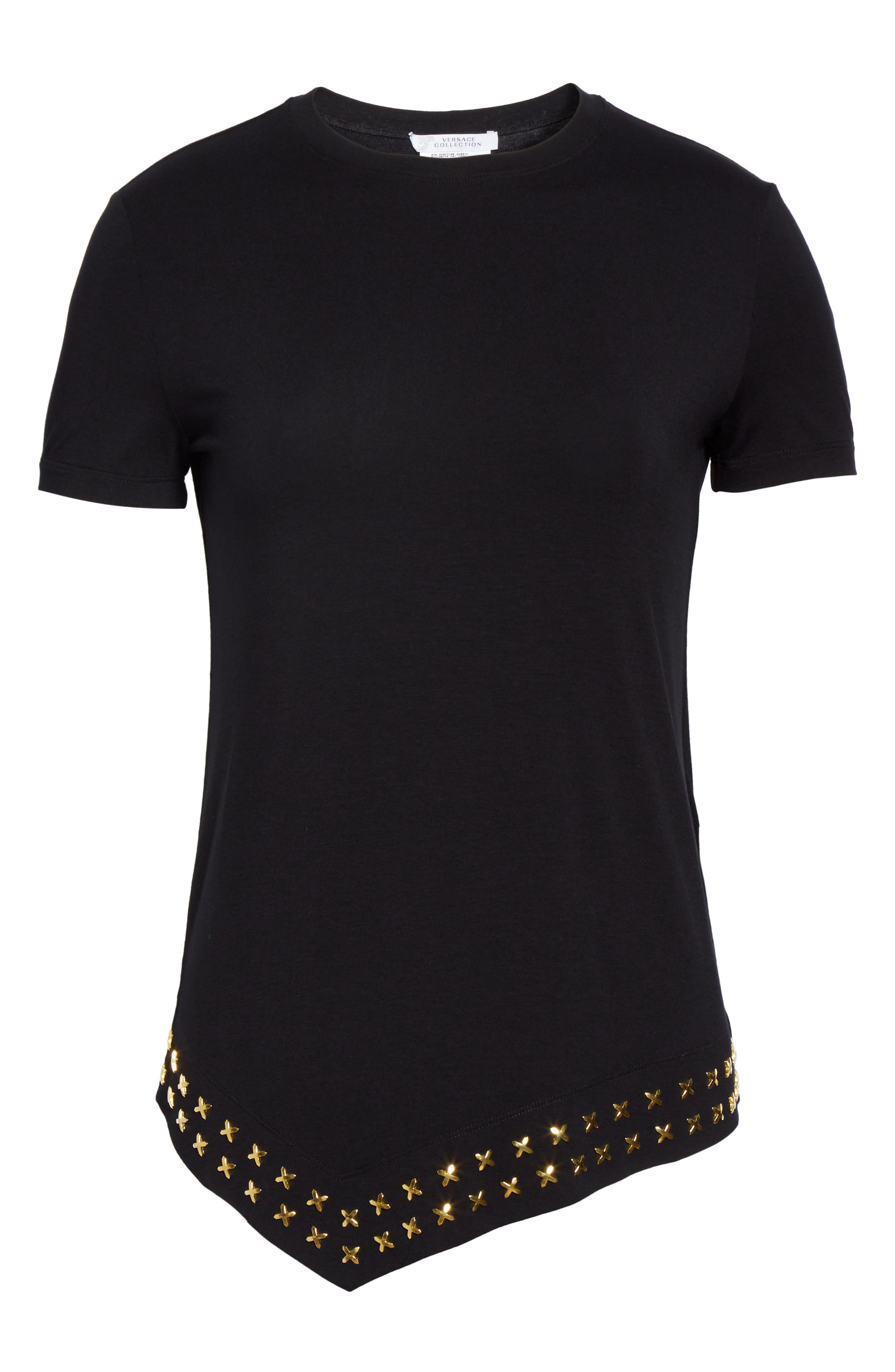Alternate Image 4  - Versace Collection Hardware Embellished Jersey Asymmetrical Top