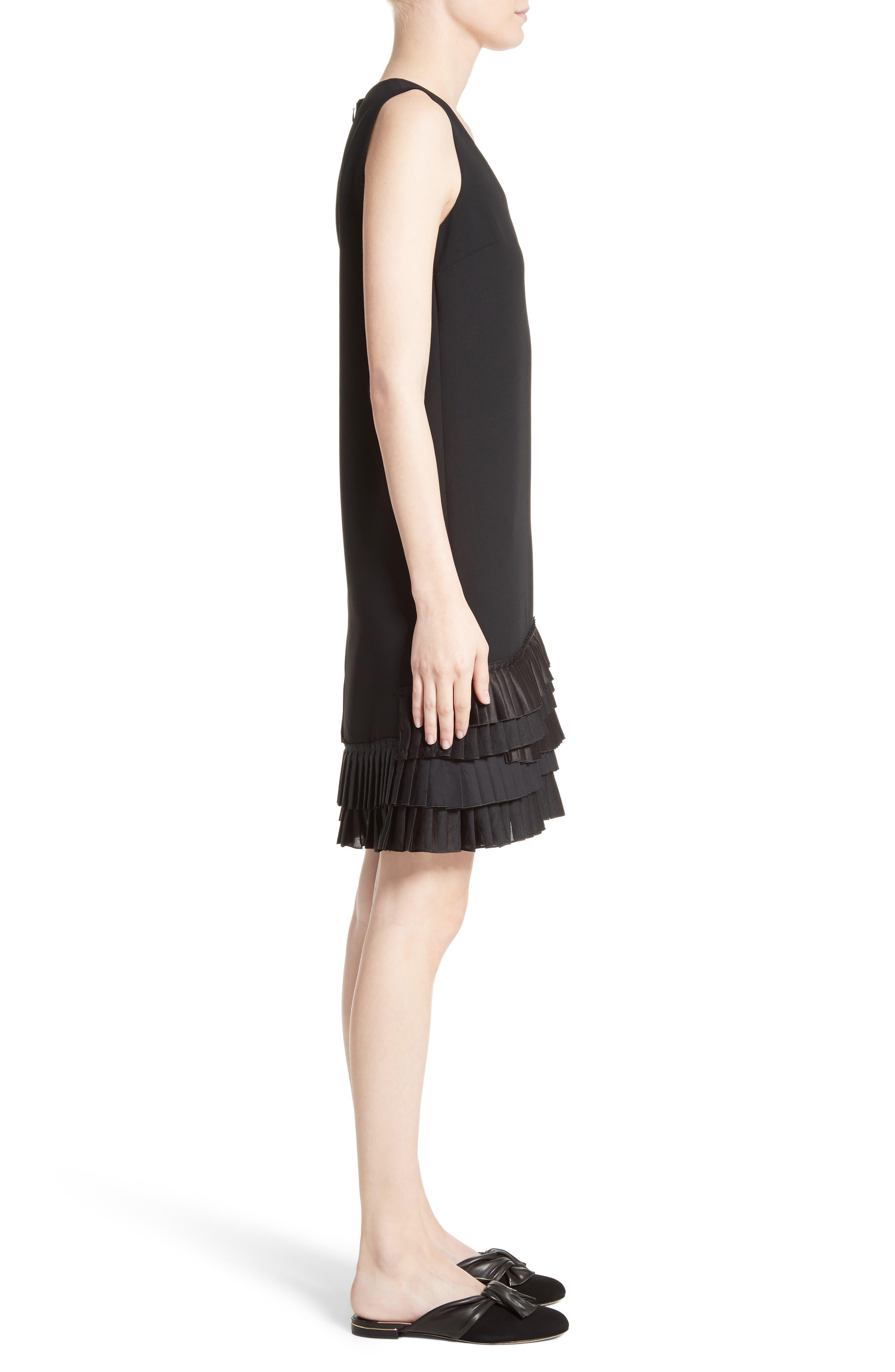 Alternate Image 3  - Victoria, Victoria Beckham Pleated Hem Shift Dress
