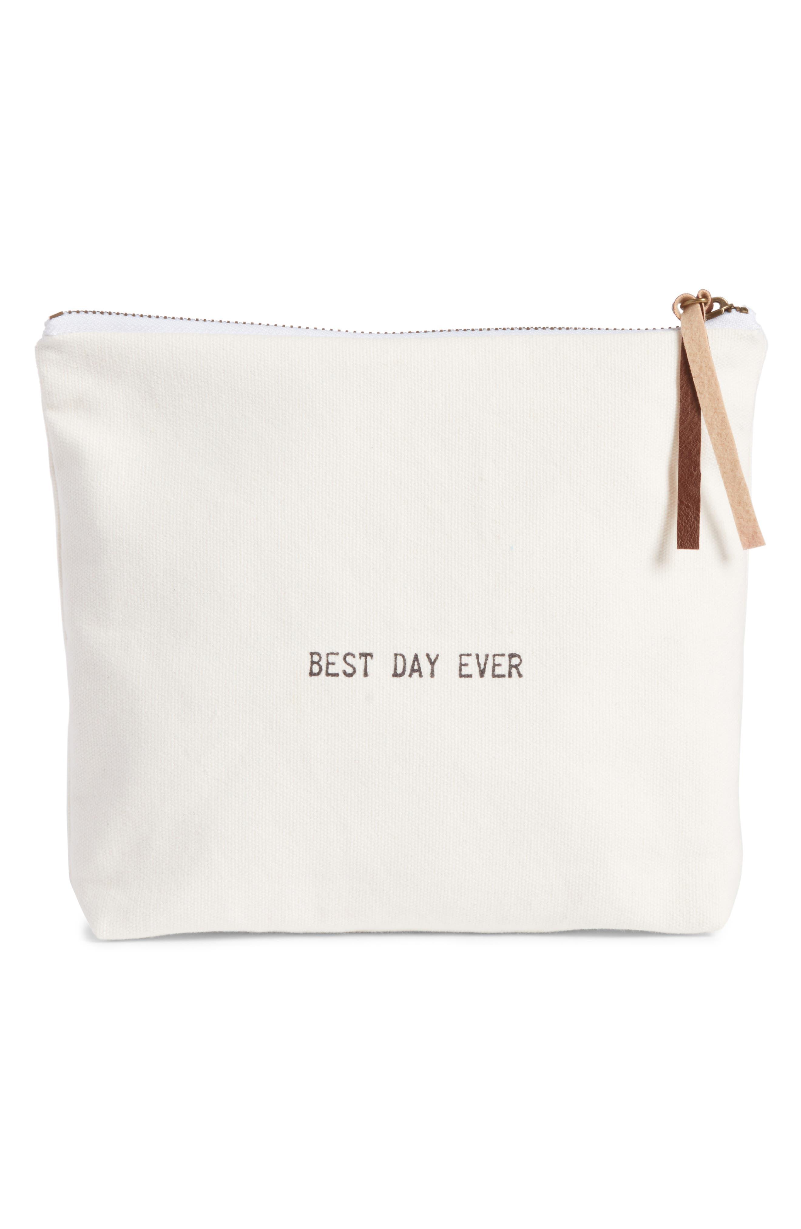 LEVTEX Best Day Ever Zip Top Accessory Bag