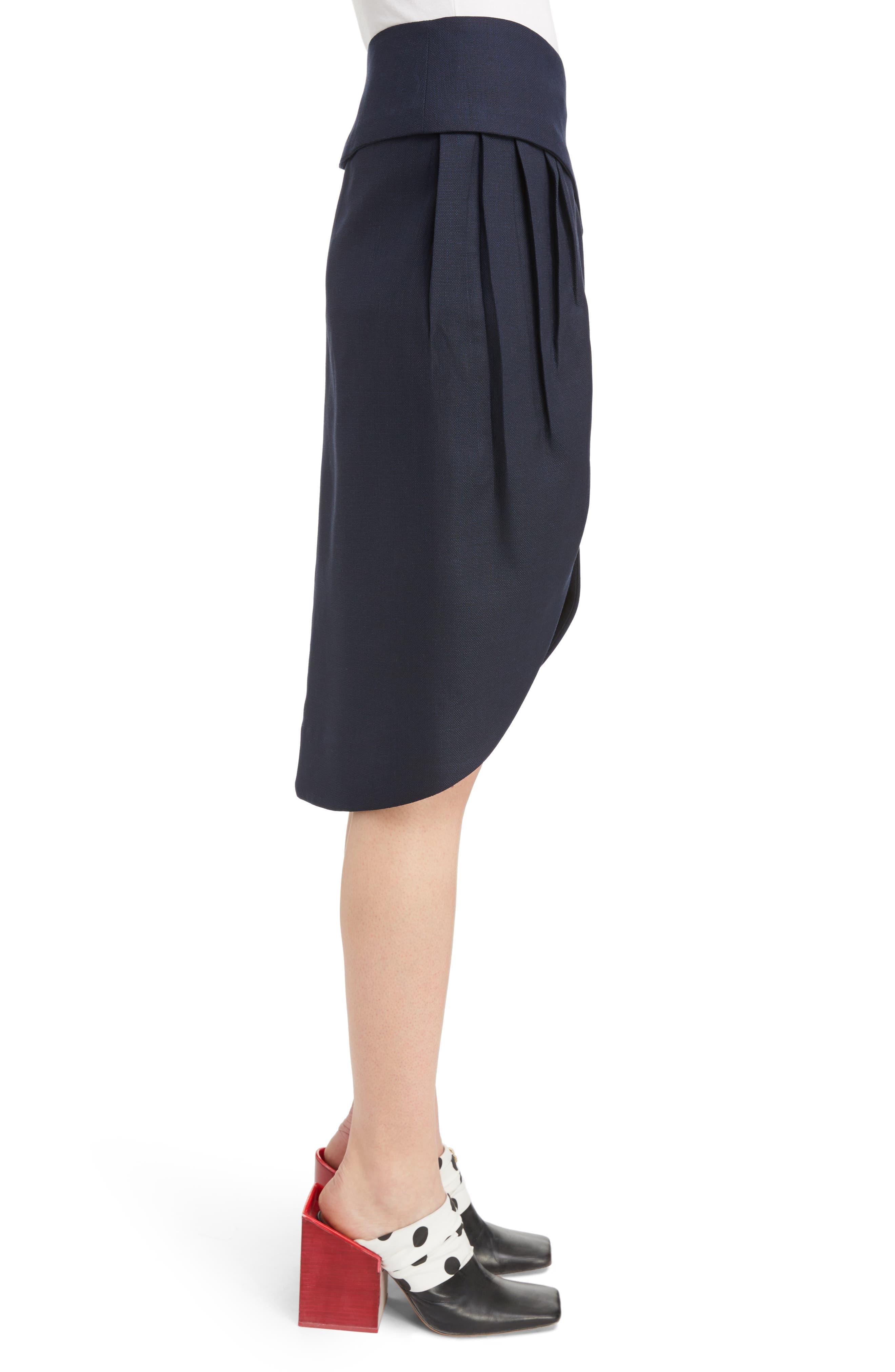 Alternate Image 3  - Jacquemus Box Pleat Asymmetrical Wool Skirt