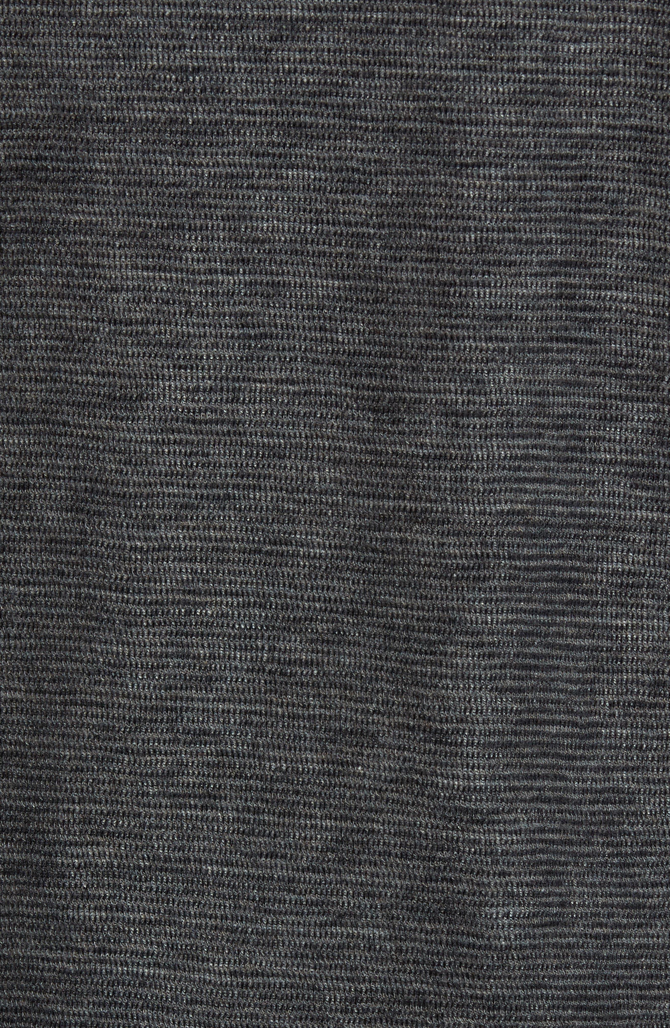 Ottoman Stripe T-Shirt,                             Alternate thumbnail 5, color,                             Charcoal