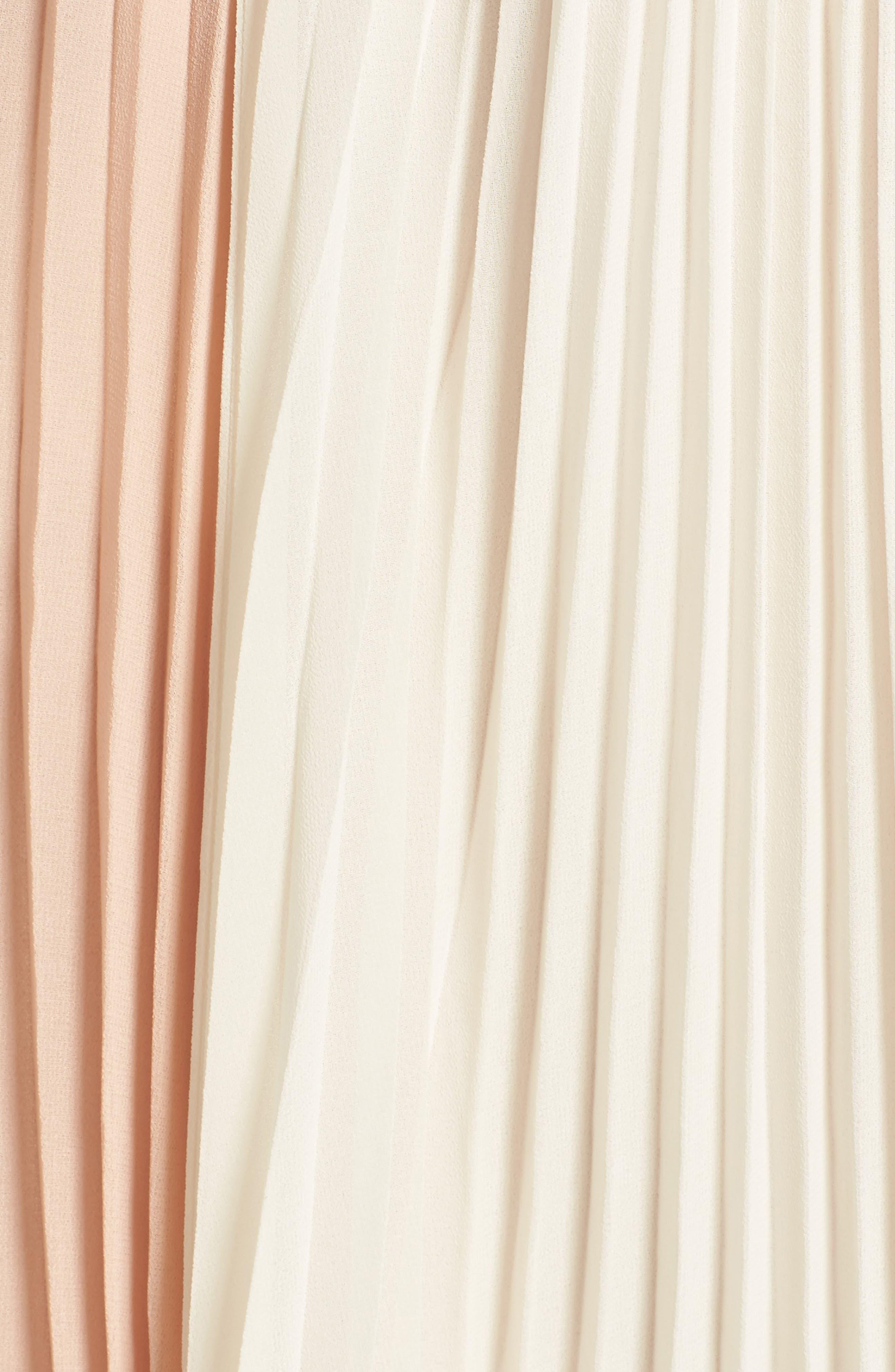Alternate Image 5  - June & Hudson Colorblock Pleat Skirt