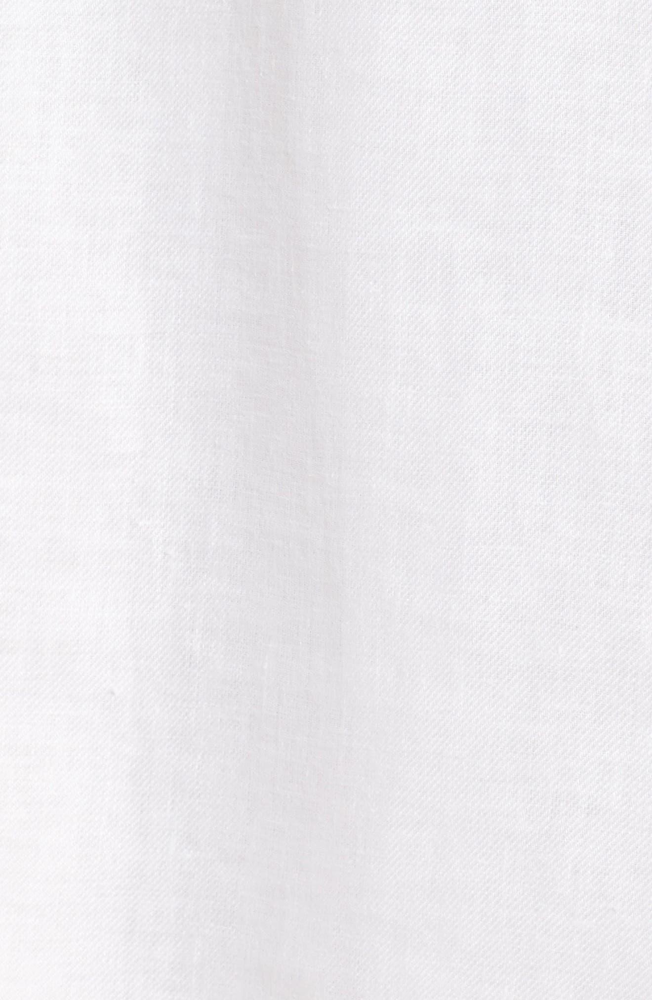 Alternate Image 5  - BOSS Dimisa Linen Belted A-Line Dress (Regular & Petite)