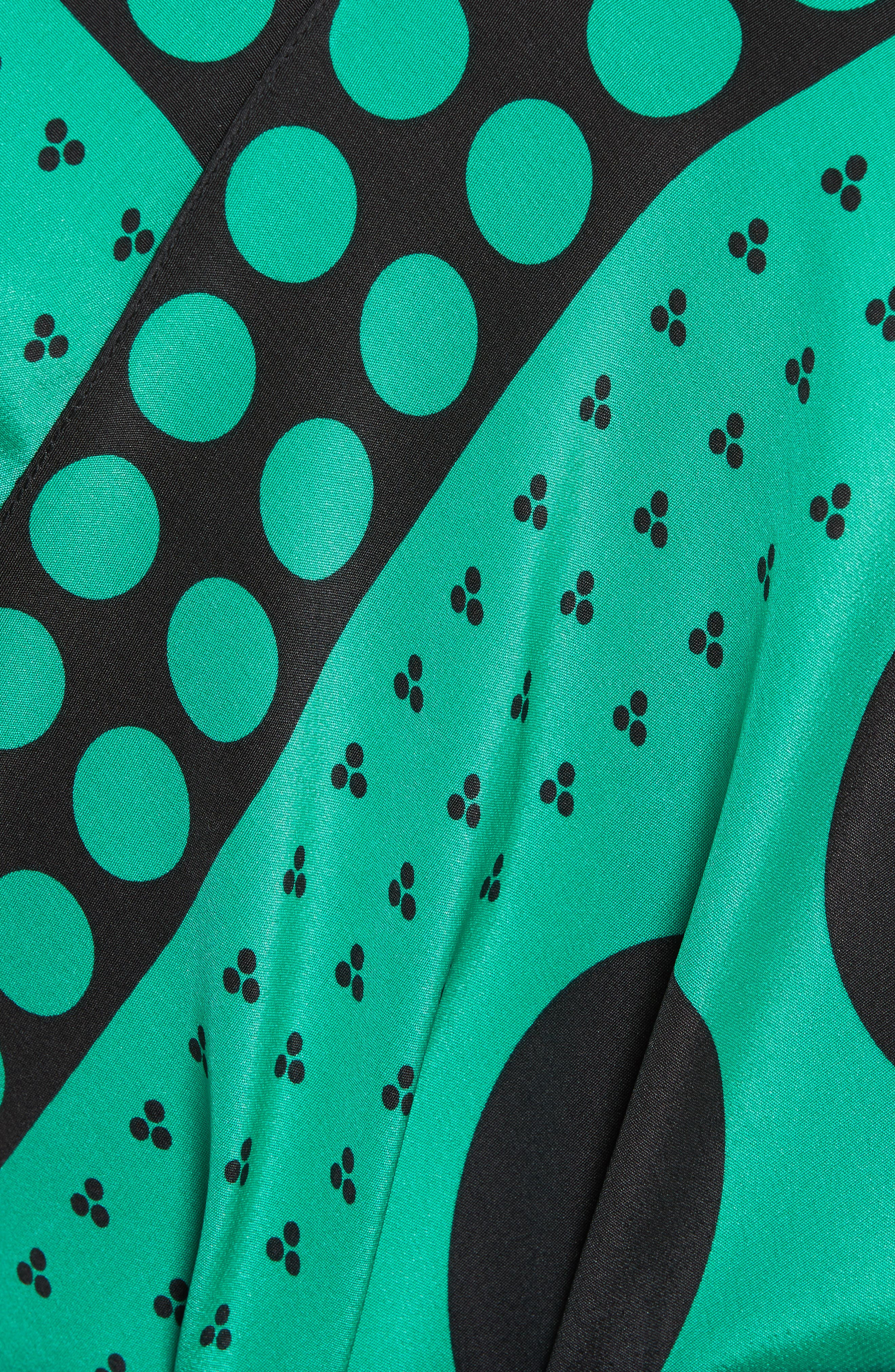 Asymmetrical Scarf Maxi Dress,                             Alternate thumbnail 5, color,                             Brunel Navy/ Evergreen