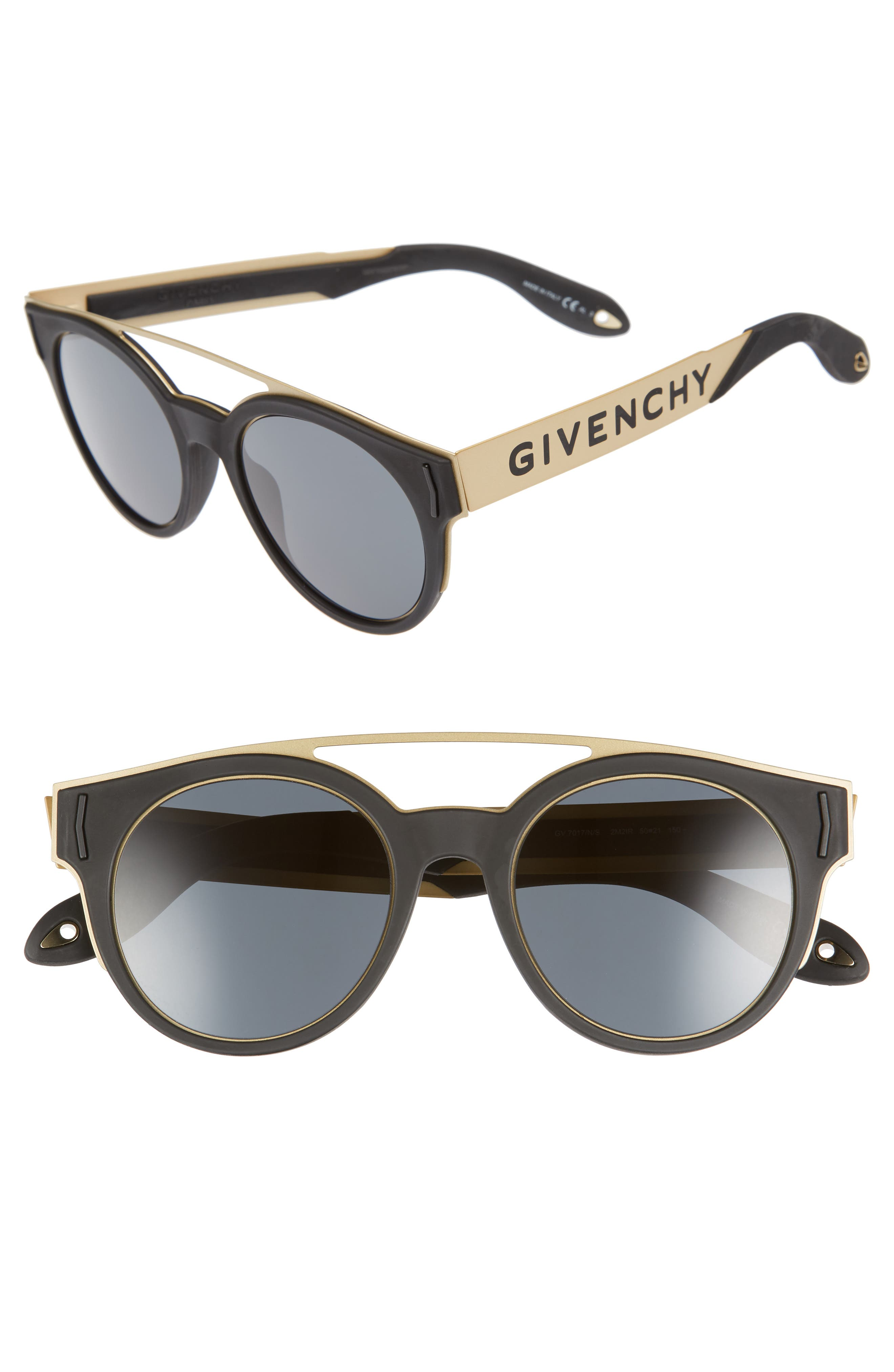 Givenchy 50mm Round Sunglasses