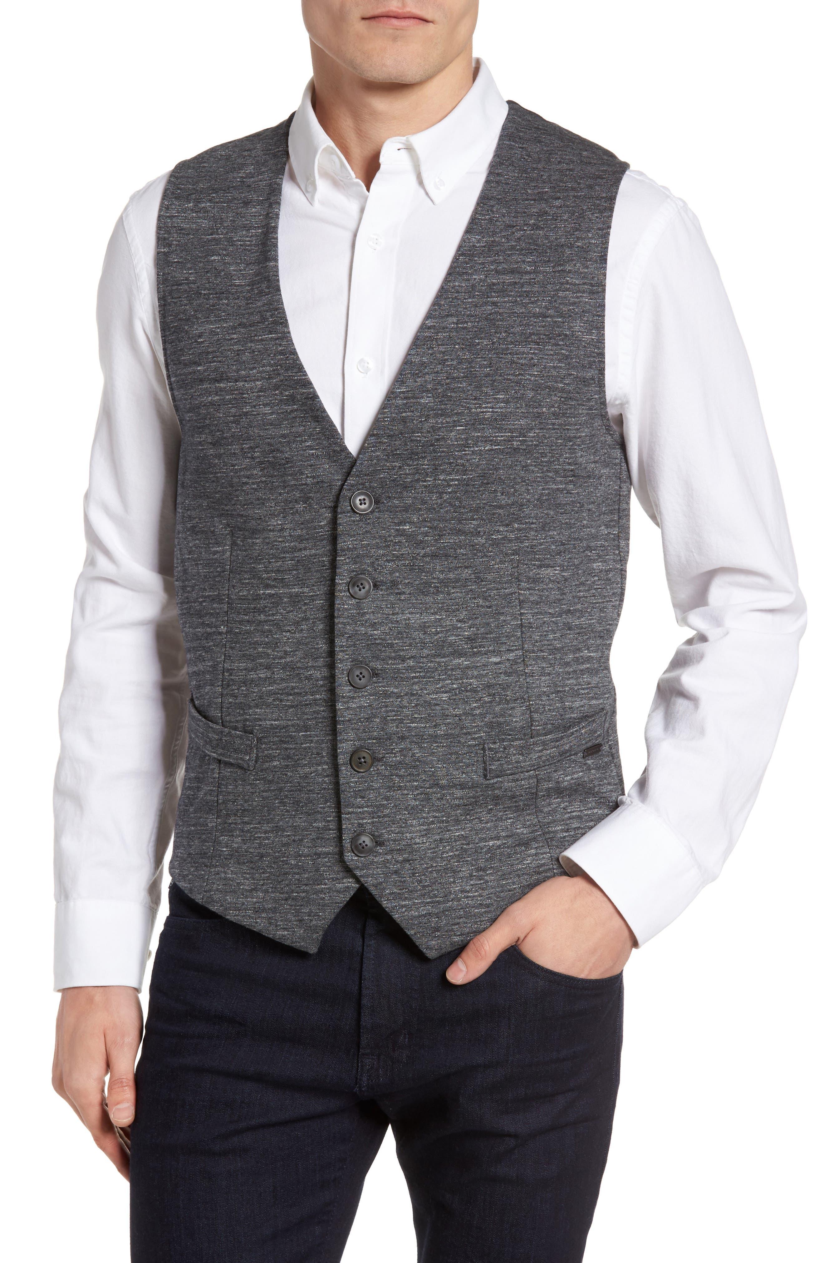 Wutang Jersey Vest,                         Main,                         color, Light Pastel/ Grey