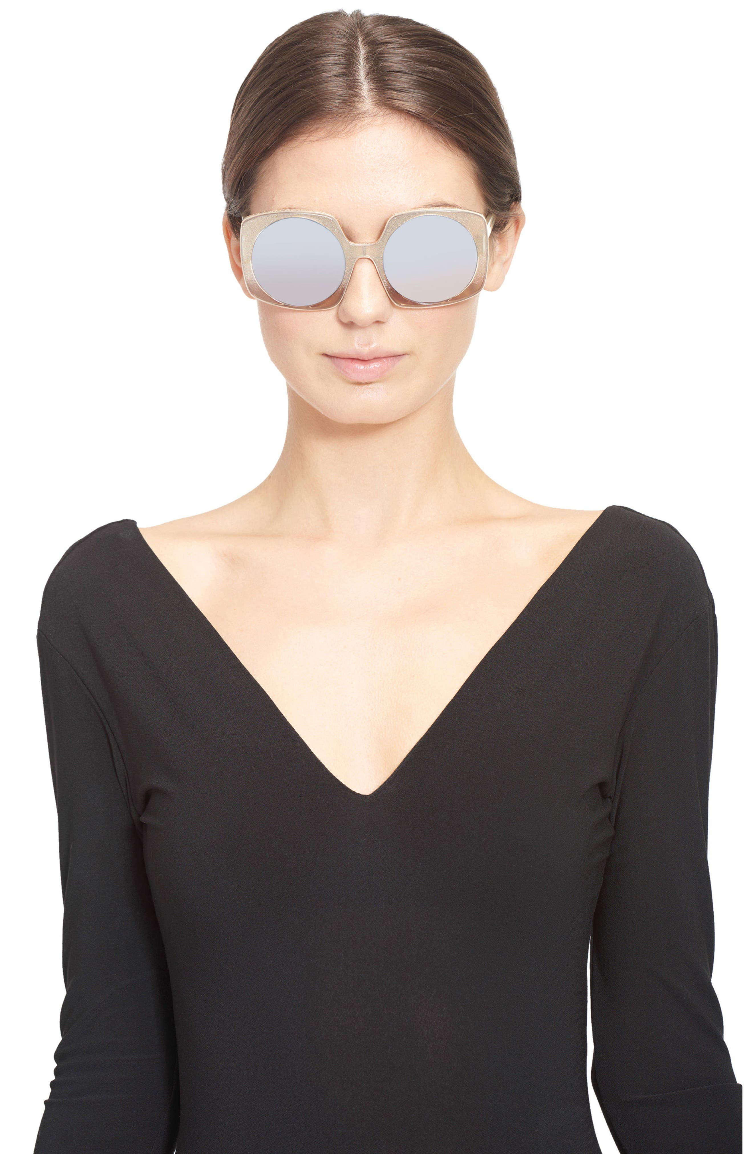 Alternate Image 3  - Alice + Olivia Canton 55mm Special Fit Square Sunglasses