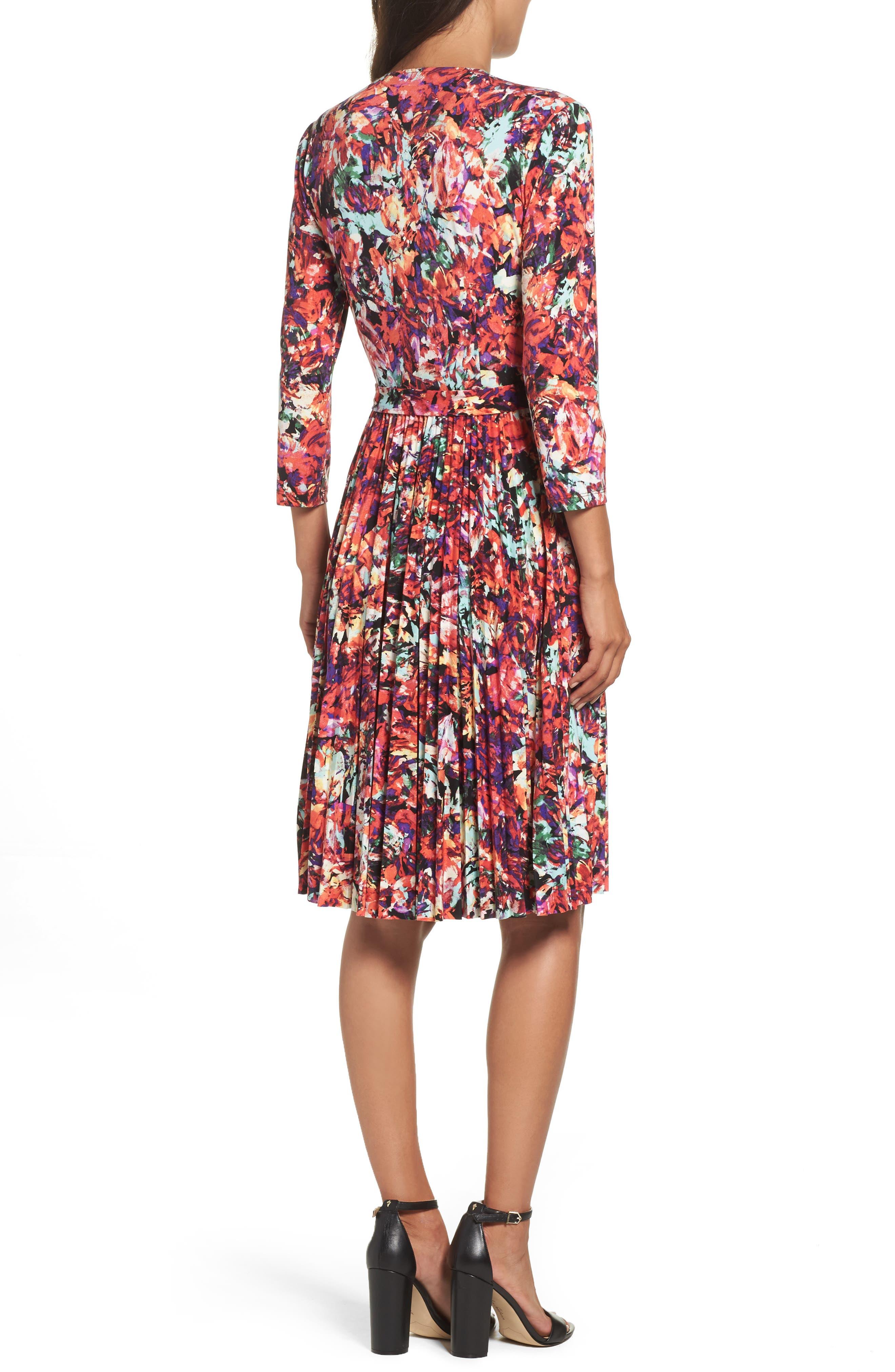 Alternate Image 2  - Maggy London Print Fit & Flare Dress (Regular & Petite)